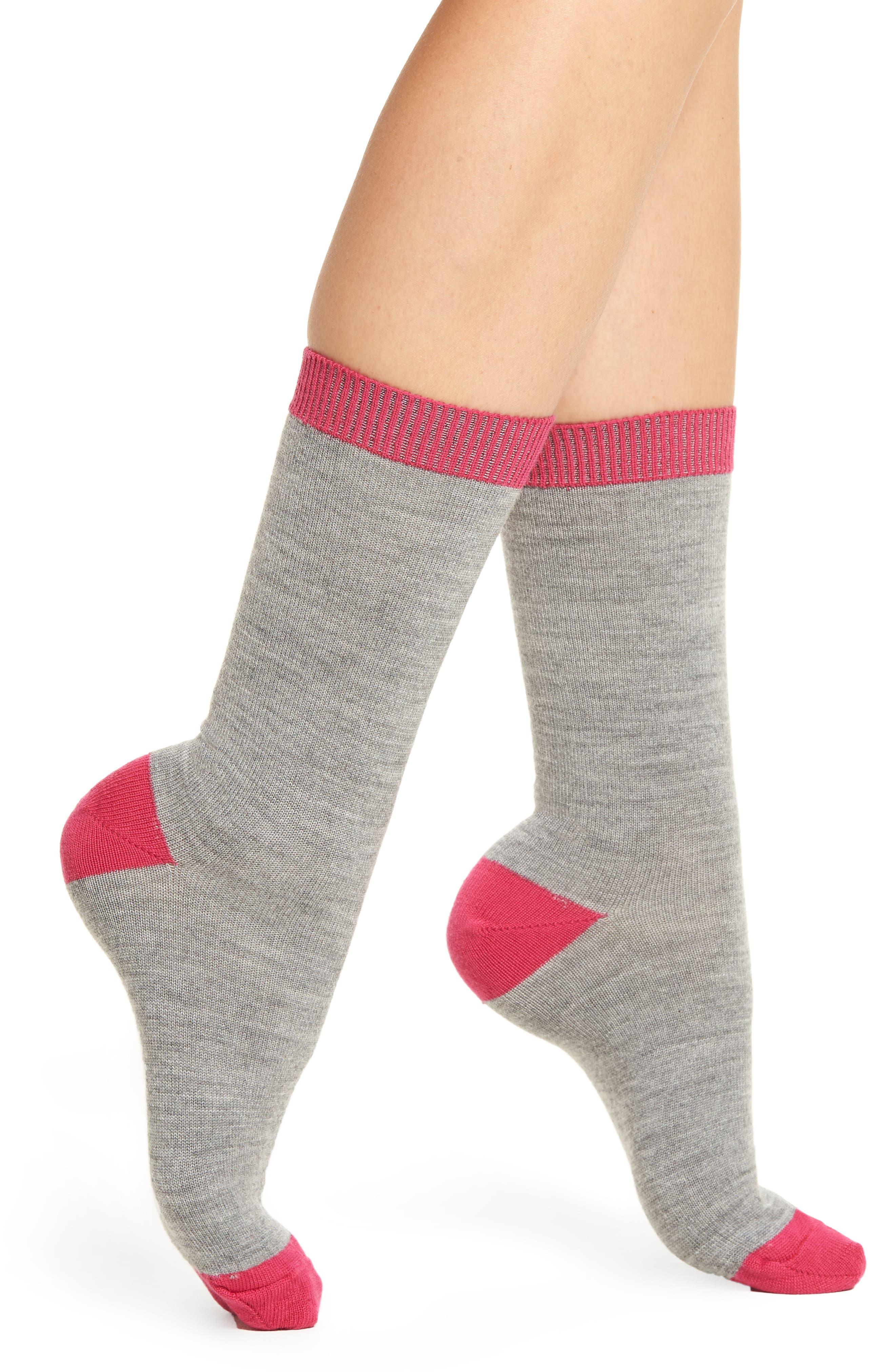 Nordstrom Merino Wool Blend Crew Socks