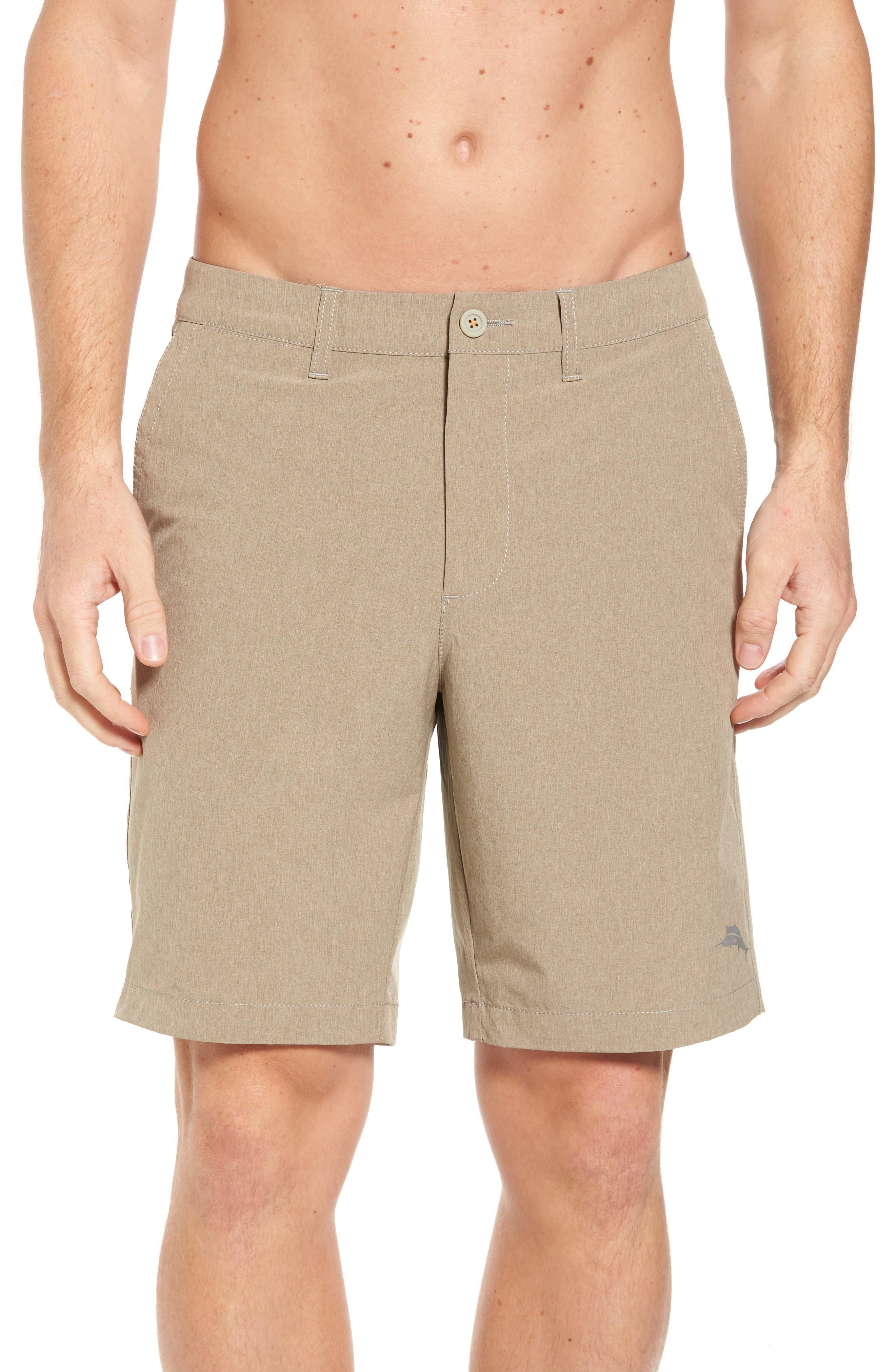 'Cayman Isles' Hybrid Swim Shorts,                             Main thumbnail 1, color,                             Dark Twill