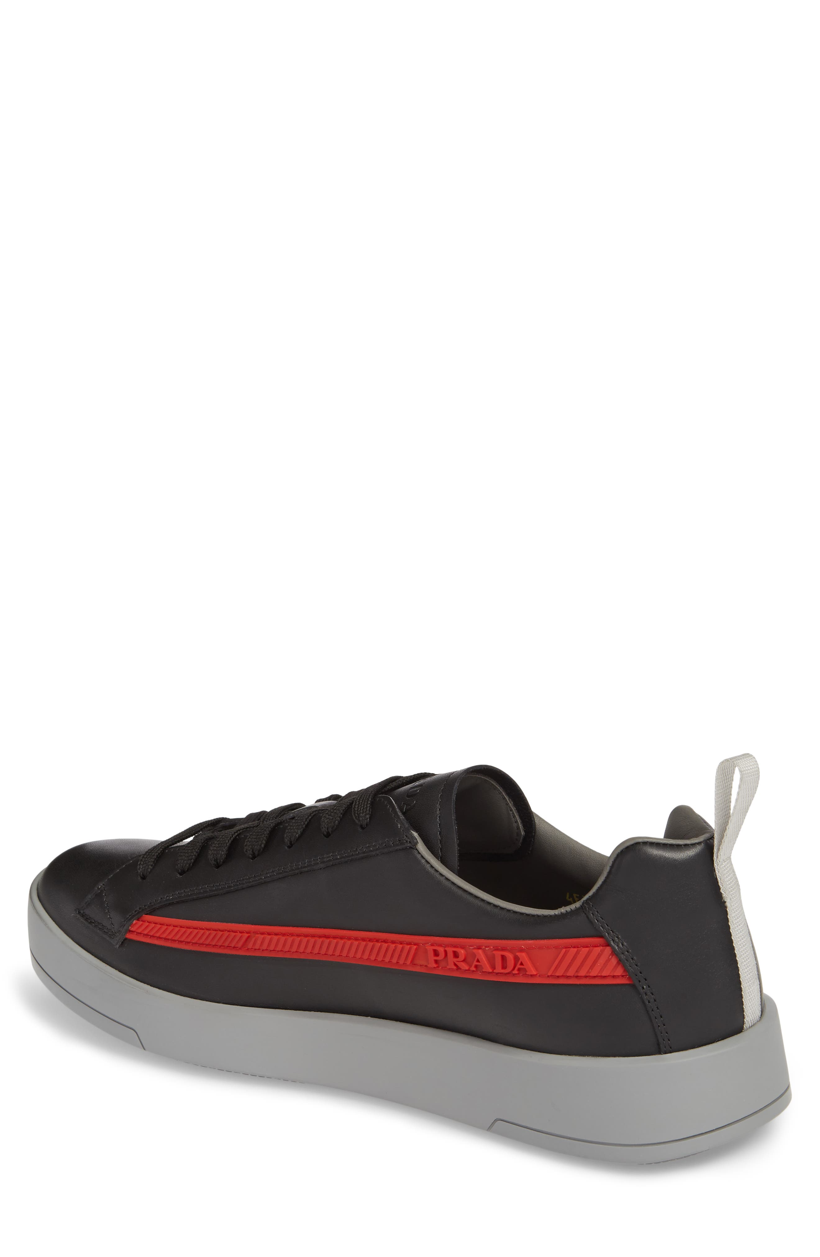 Linea Rossa Sneaker,                             Alternate thumbnail 2, color,                             Nero Bianco