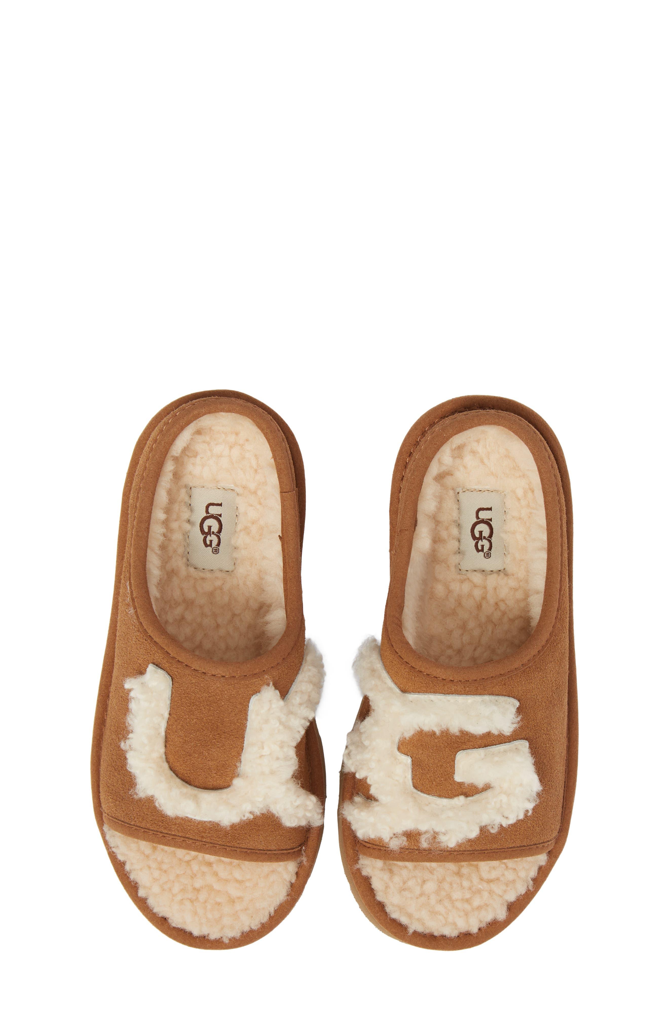 Alternate Image 5  - UGG® Logo Slide Sandal (Walker, Toddler, Little Kid & Big Kid)
