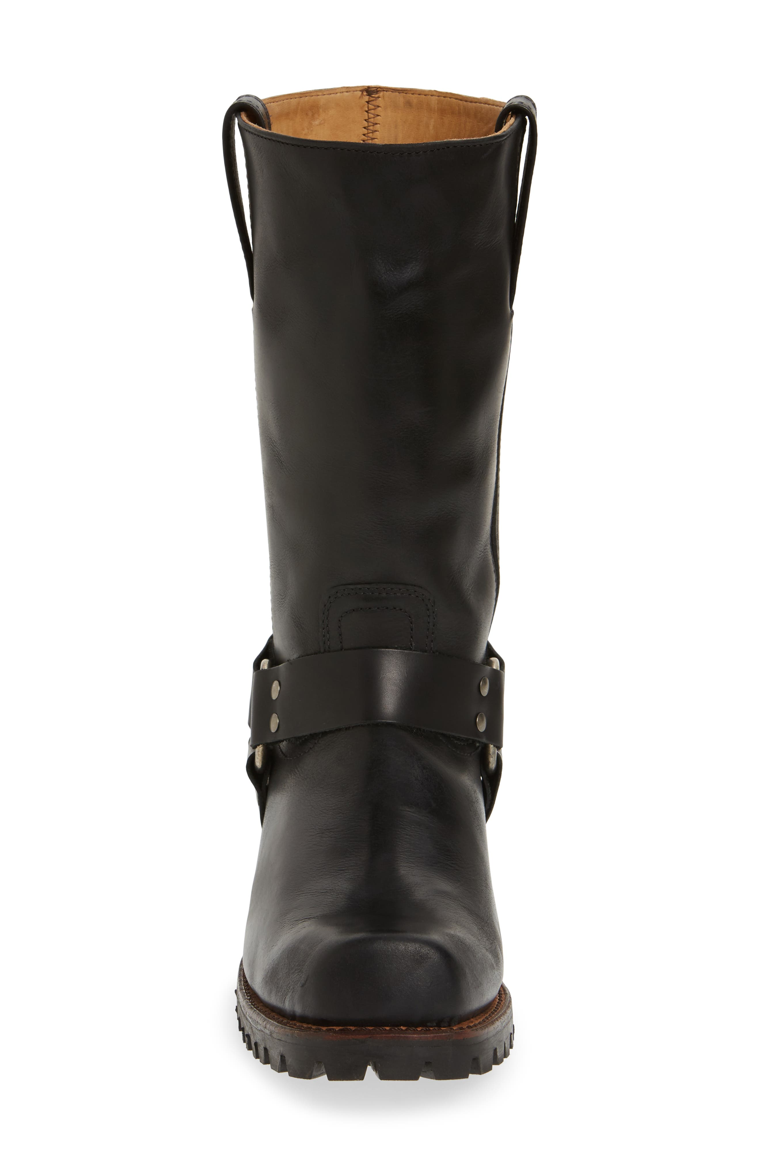 Addison Waterproof Harness Boot,                             Alternate thumbnail 4, color,                             Black Leather
