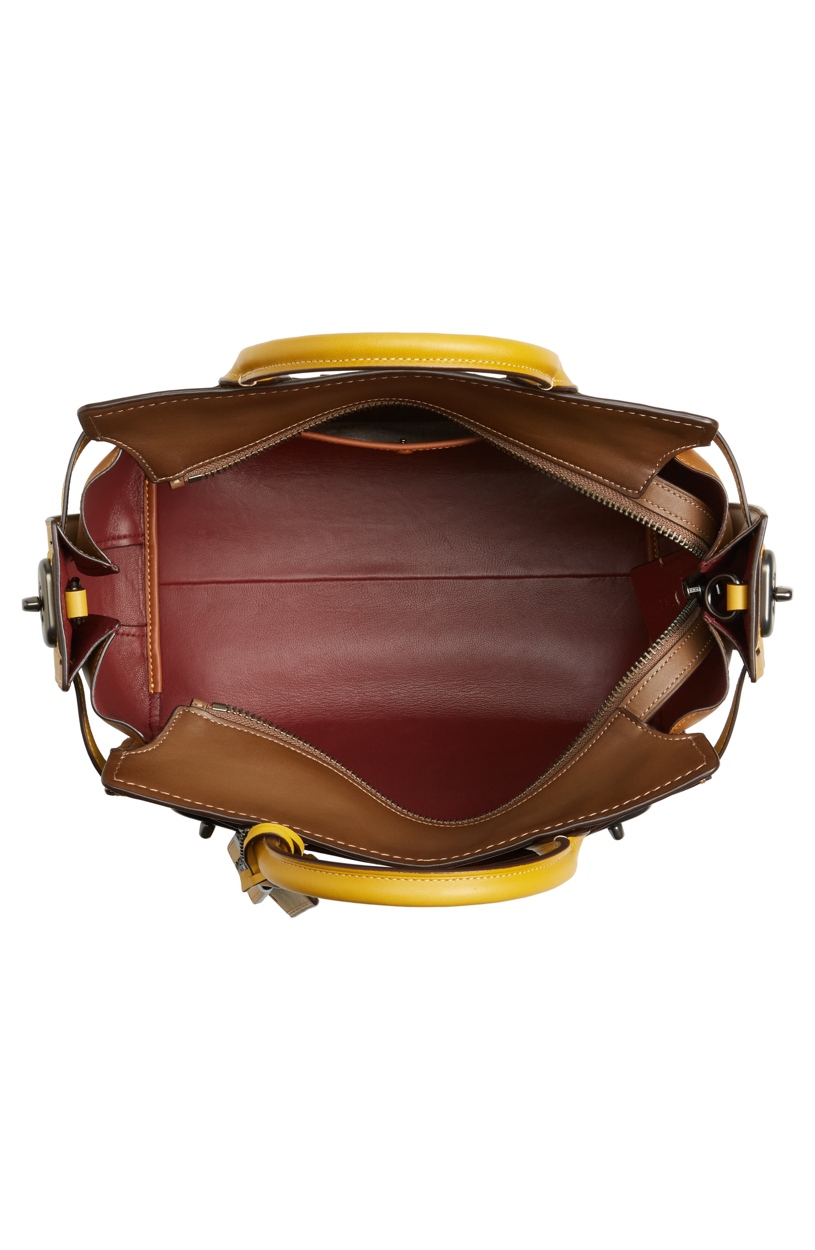 Alternate Image 4  - COACH Double Swagger Leather Satchel
