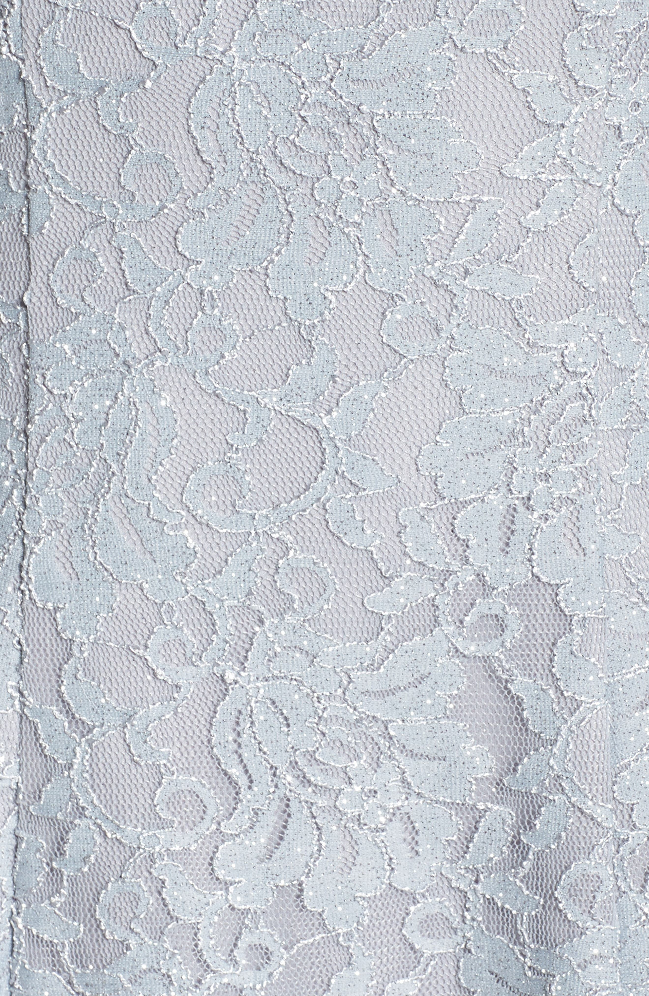 Lace Halter Neck Dress,                             Alternate thumbnail 5, color,                             Platinum