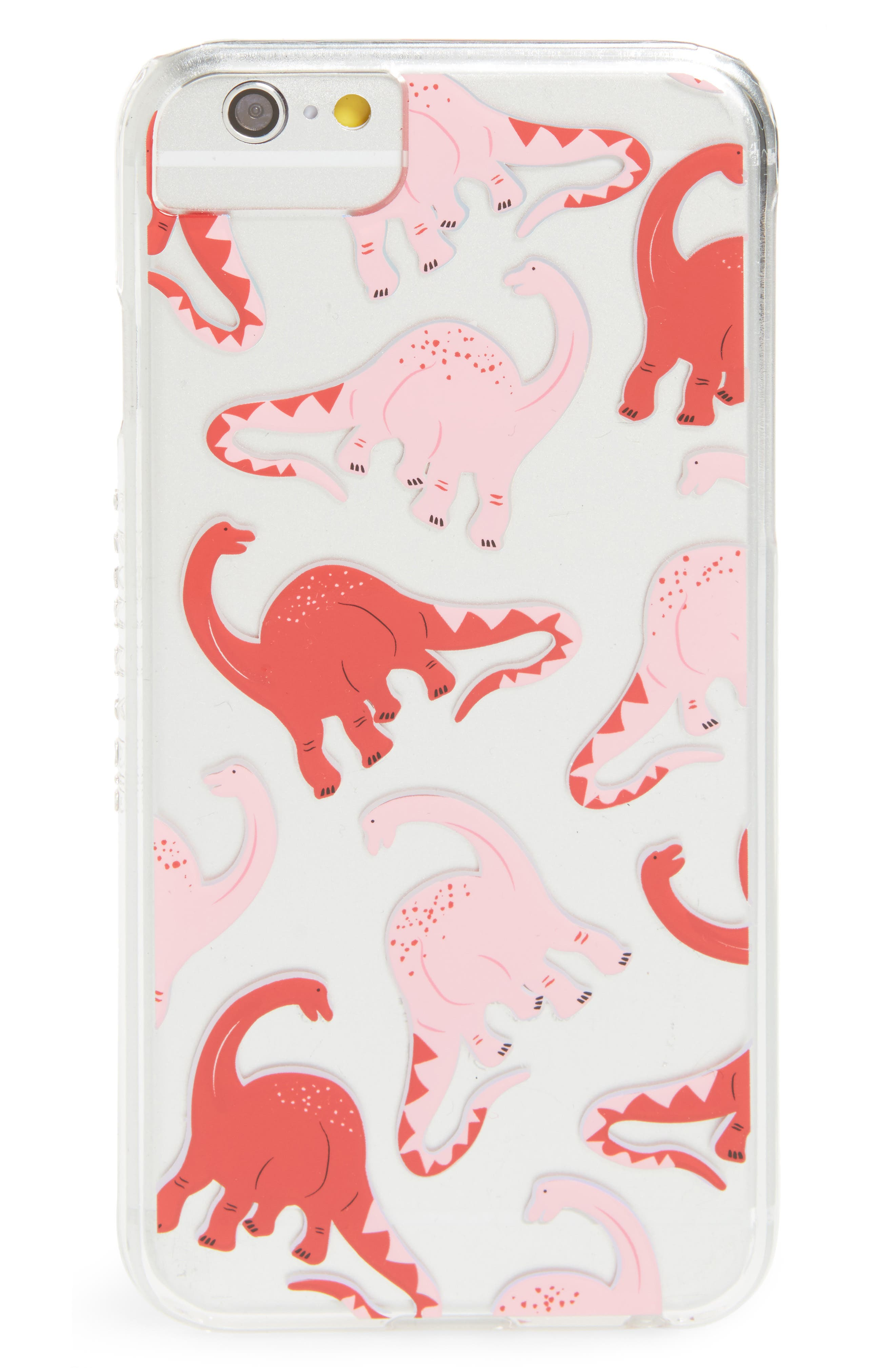 Skinny Dip Pink Dino iPhone 6/6s/7/8 or 6/6s/7/8 Plus Case,                             Main thumbnail 1, color,                             Pink