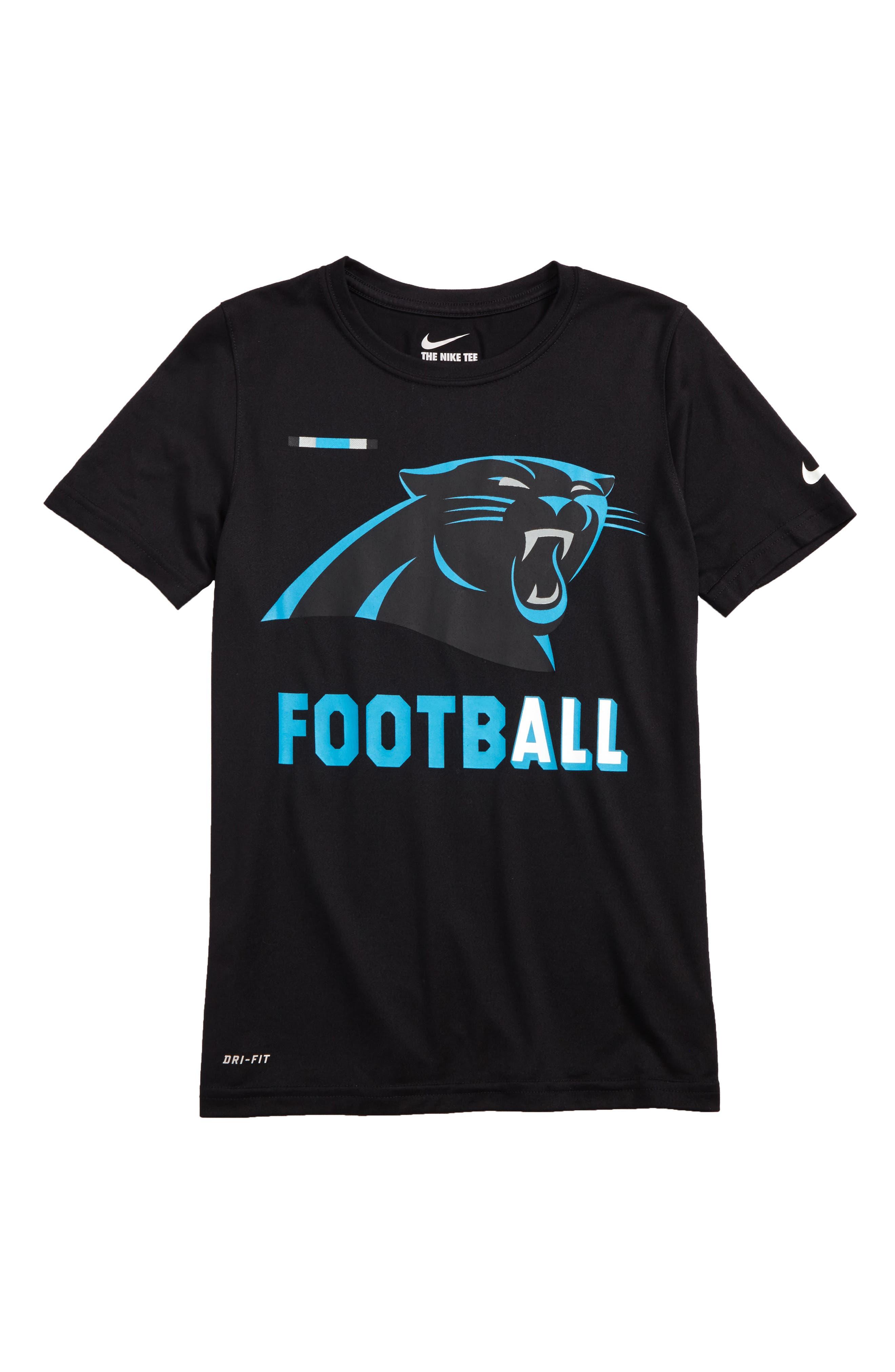 Nike NFL Logo - Carolina Panthers Dry T-Shirt,                             Main thumbnail 1, color,                             Black