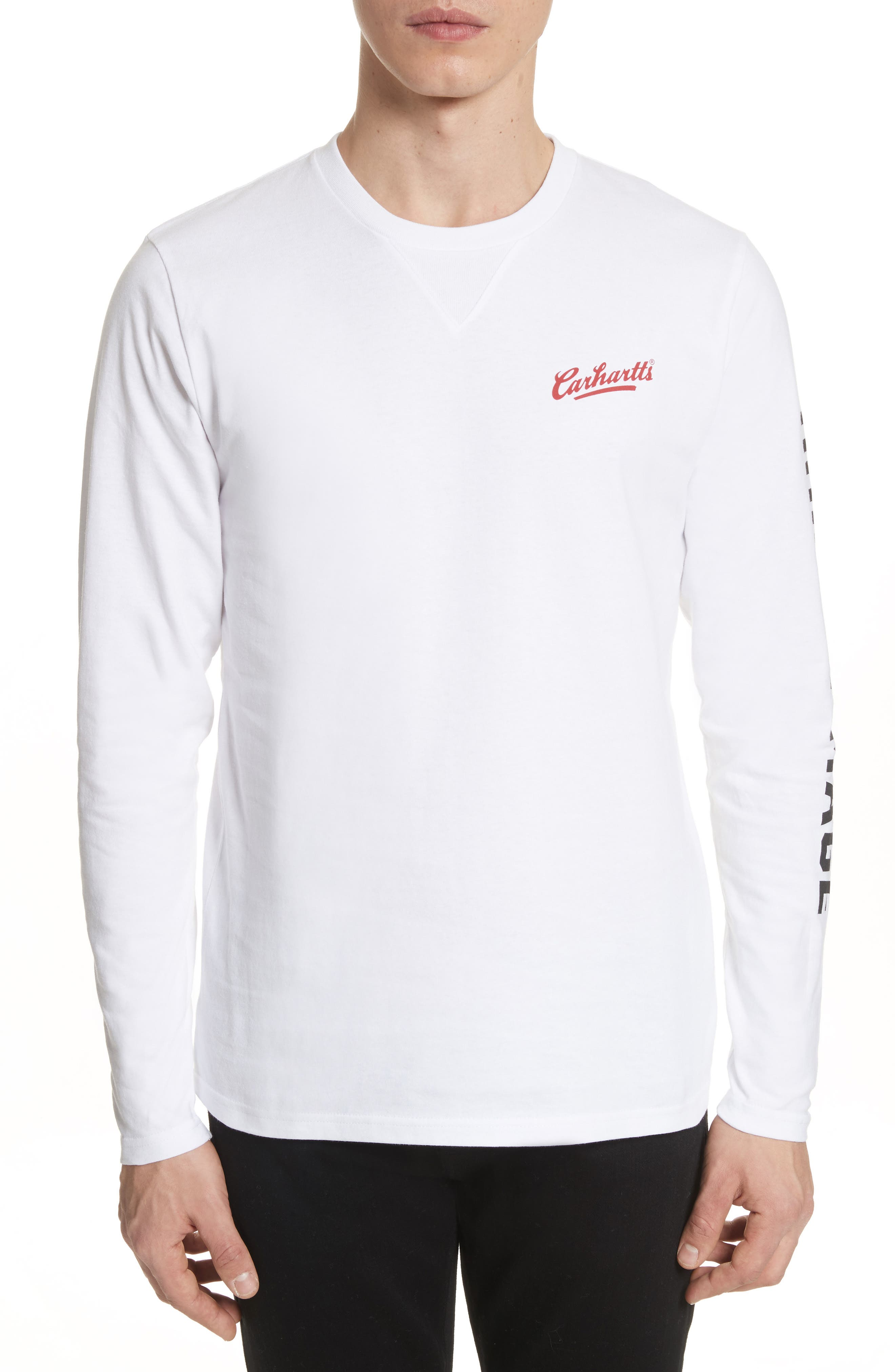 Doin' Damage Graphic Long Sleeve T-Shirt,                         Main,                         color, White