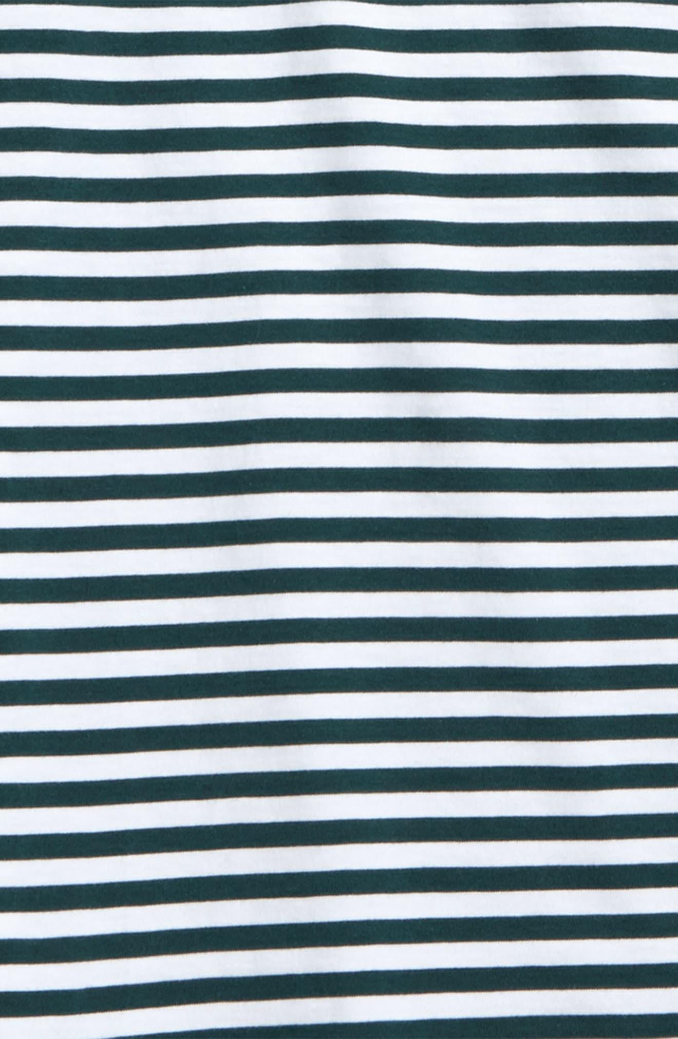 Stripe Long Sleeve Polo,                             Alternate thumbnail 2, color,                             Charleston Green