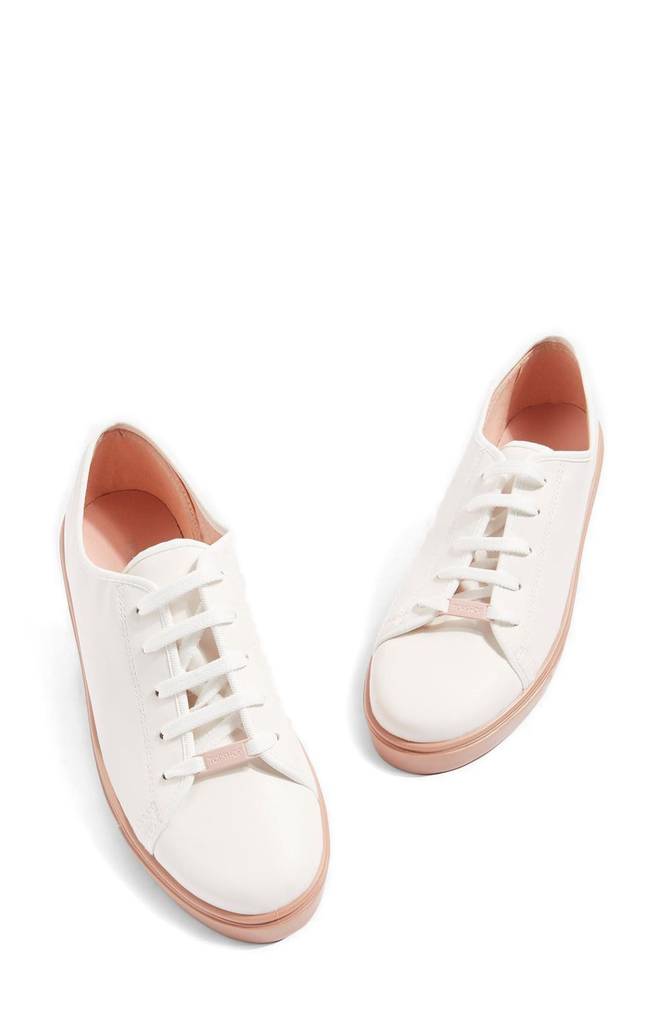 Topshop Crush Waterproof Contrast Sole Sneaker (Women)