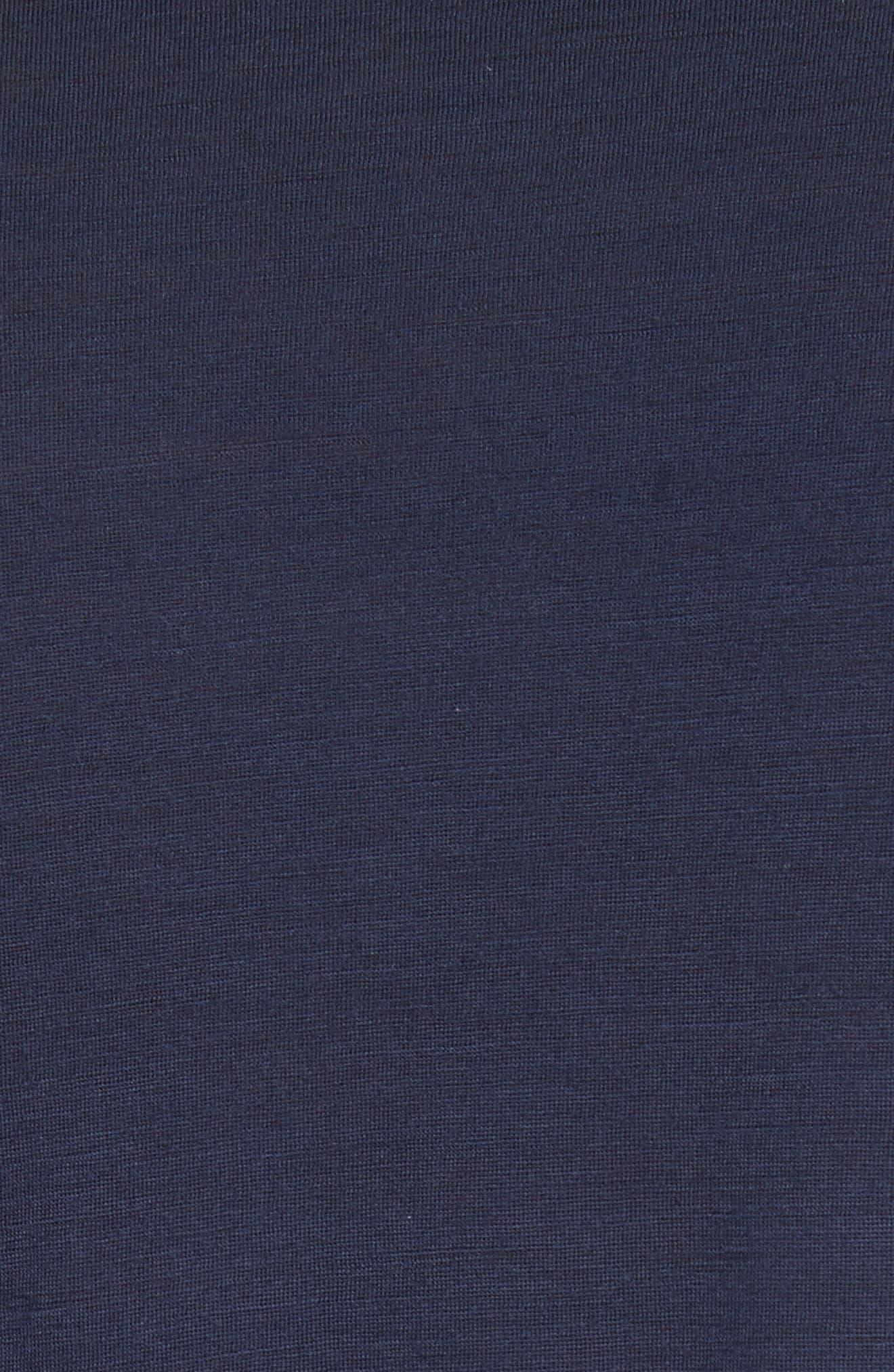 Jesper Mercerized Wool T-Shirt,                             Alternate thumbnail 5, color,                             Navy