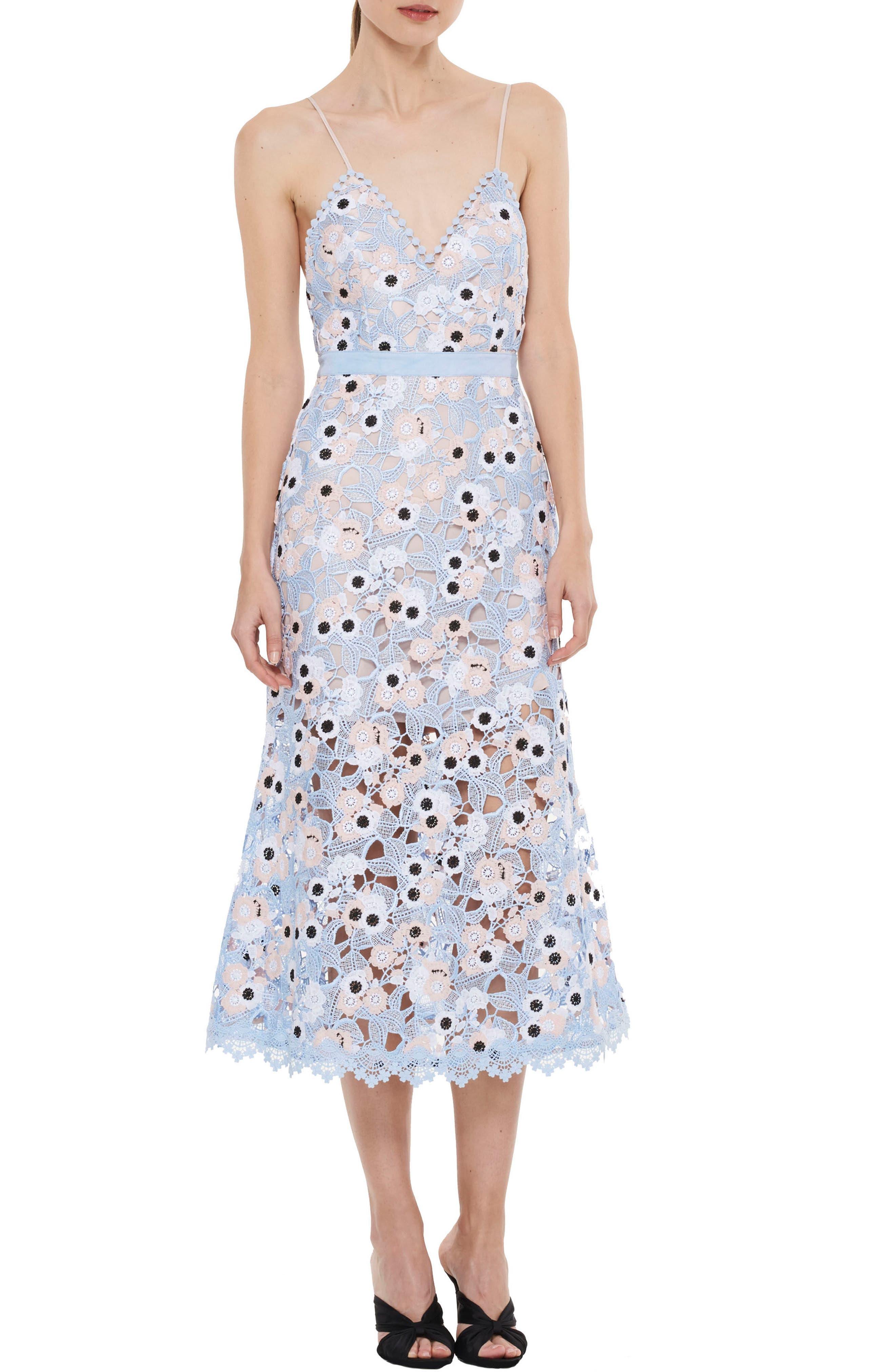 Alternate Image 1 Selected - LA MAISON TALULAH Infatuation Crochet A-Line Dress