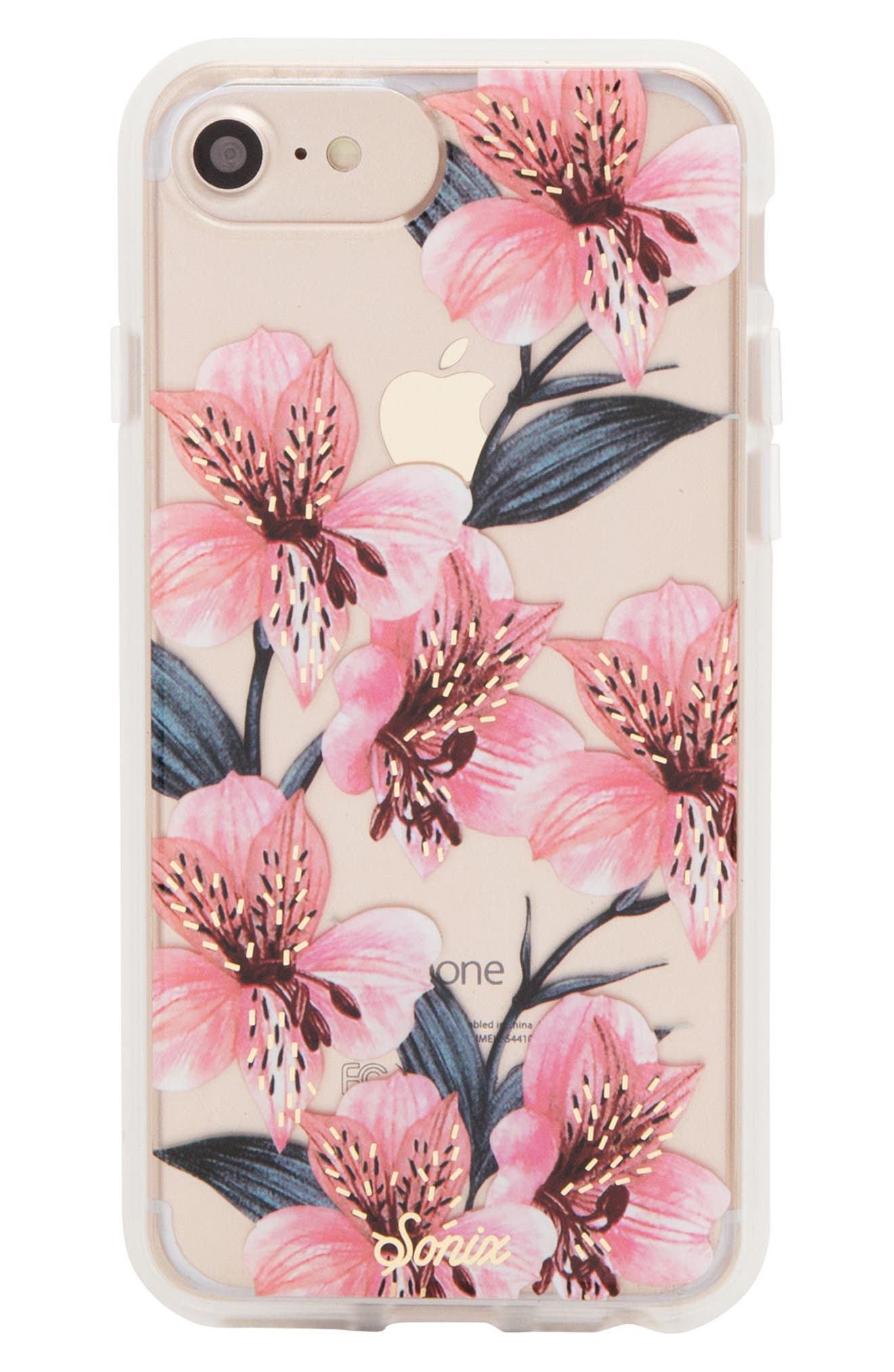 Tiger Lily iPhone 6/6s/7/8 & 6/6s/7/8 Plus Case,                         Main,                         color, Pink