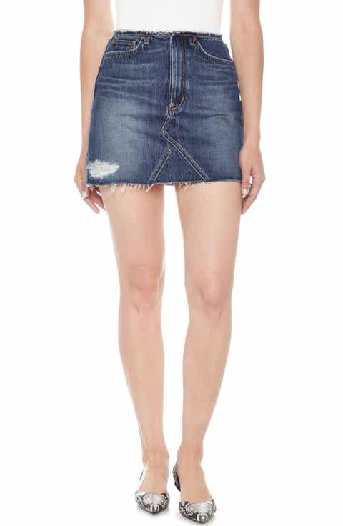 Joe's Bell Cutoff Denim Miniskirt (Dyanna)