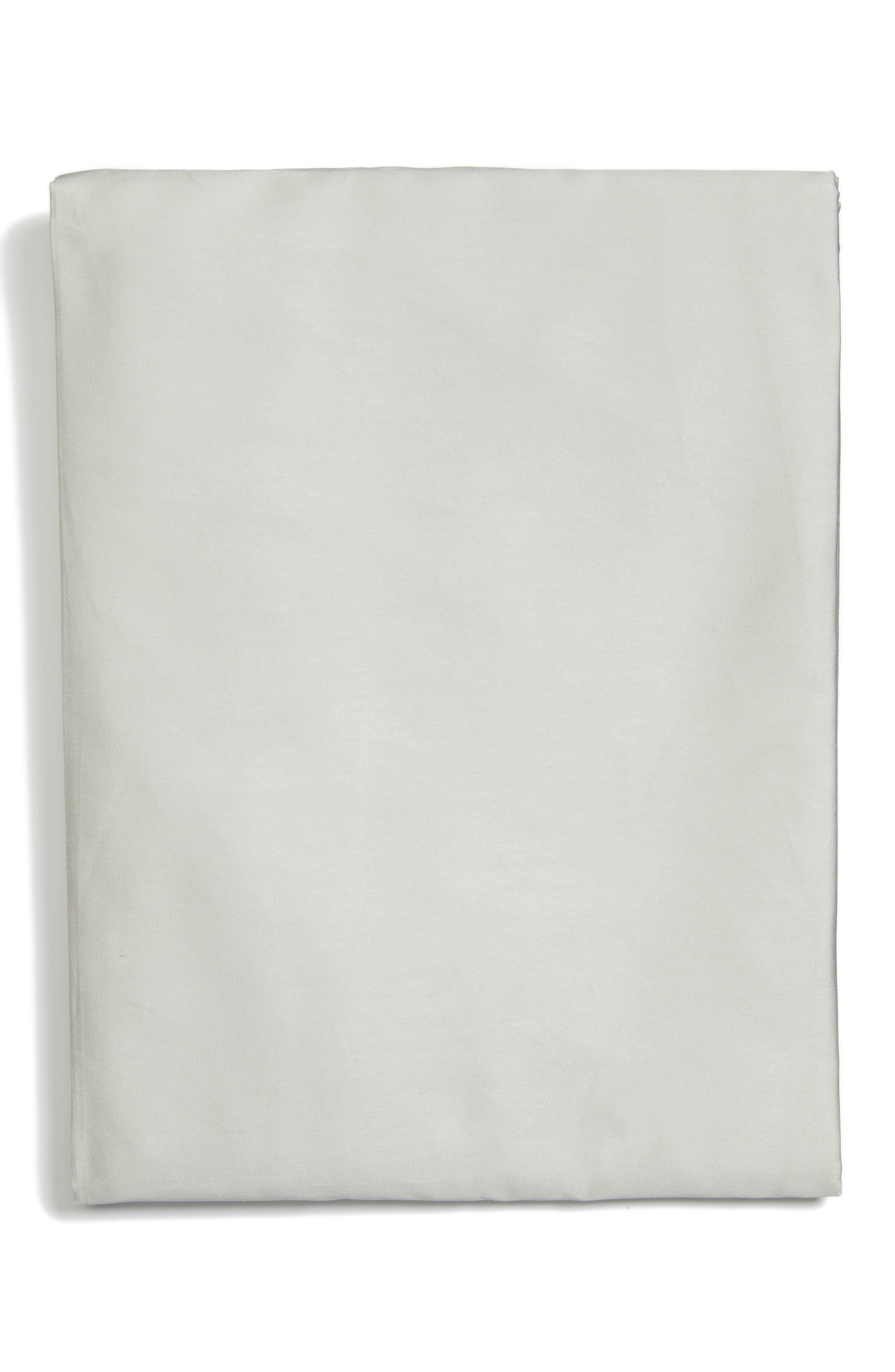 Fiona 300 Thread Count Fitted Sheet,                             Main thumbnail 1, color,                             Grey