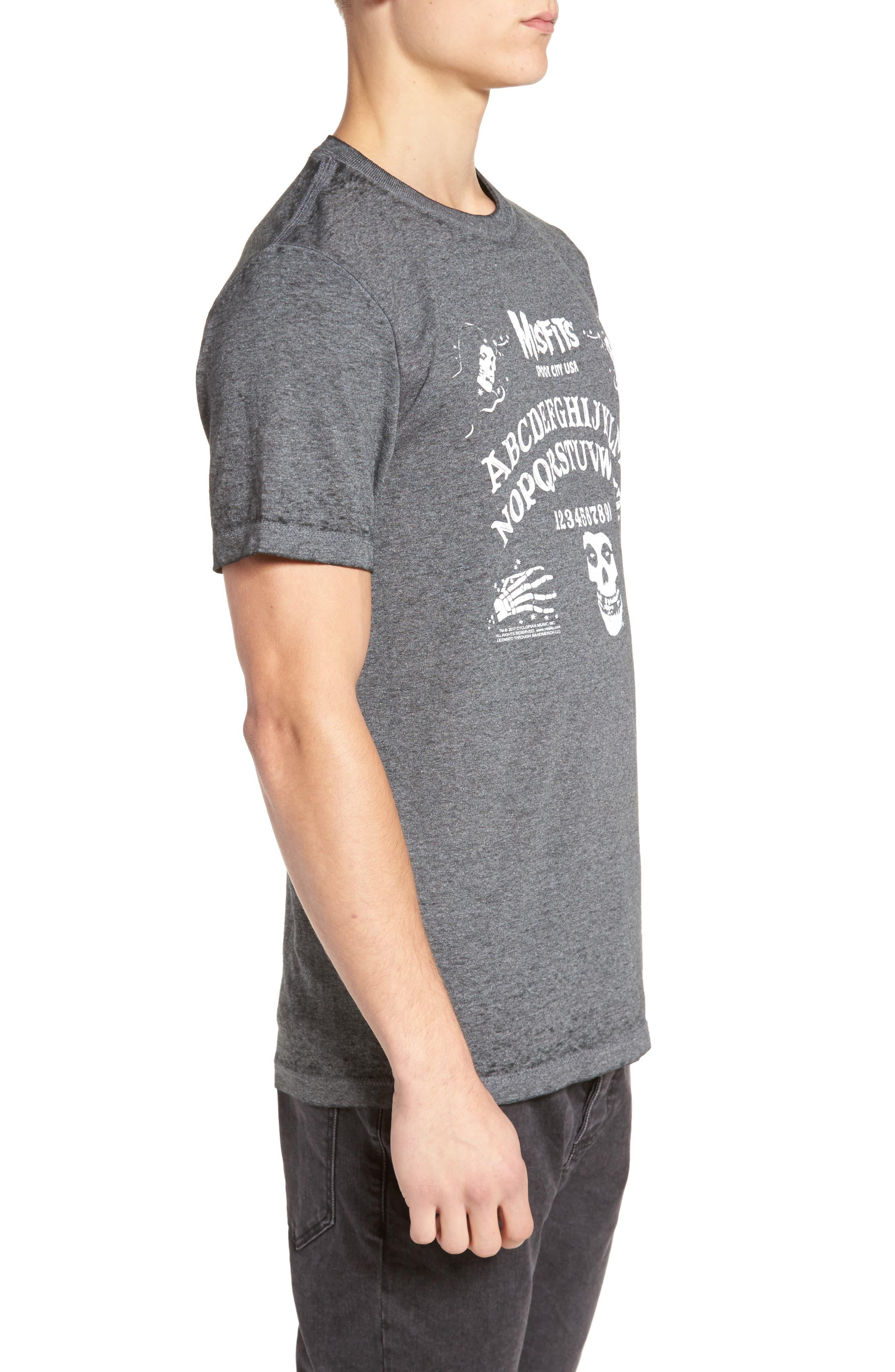 Misfits Short Sleeve T-Shirt,                             Alternate thumbnail 3, color,                             Black Misfits Ouija