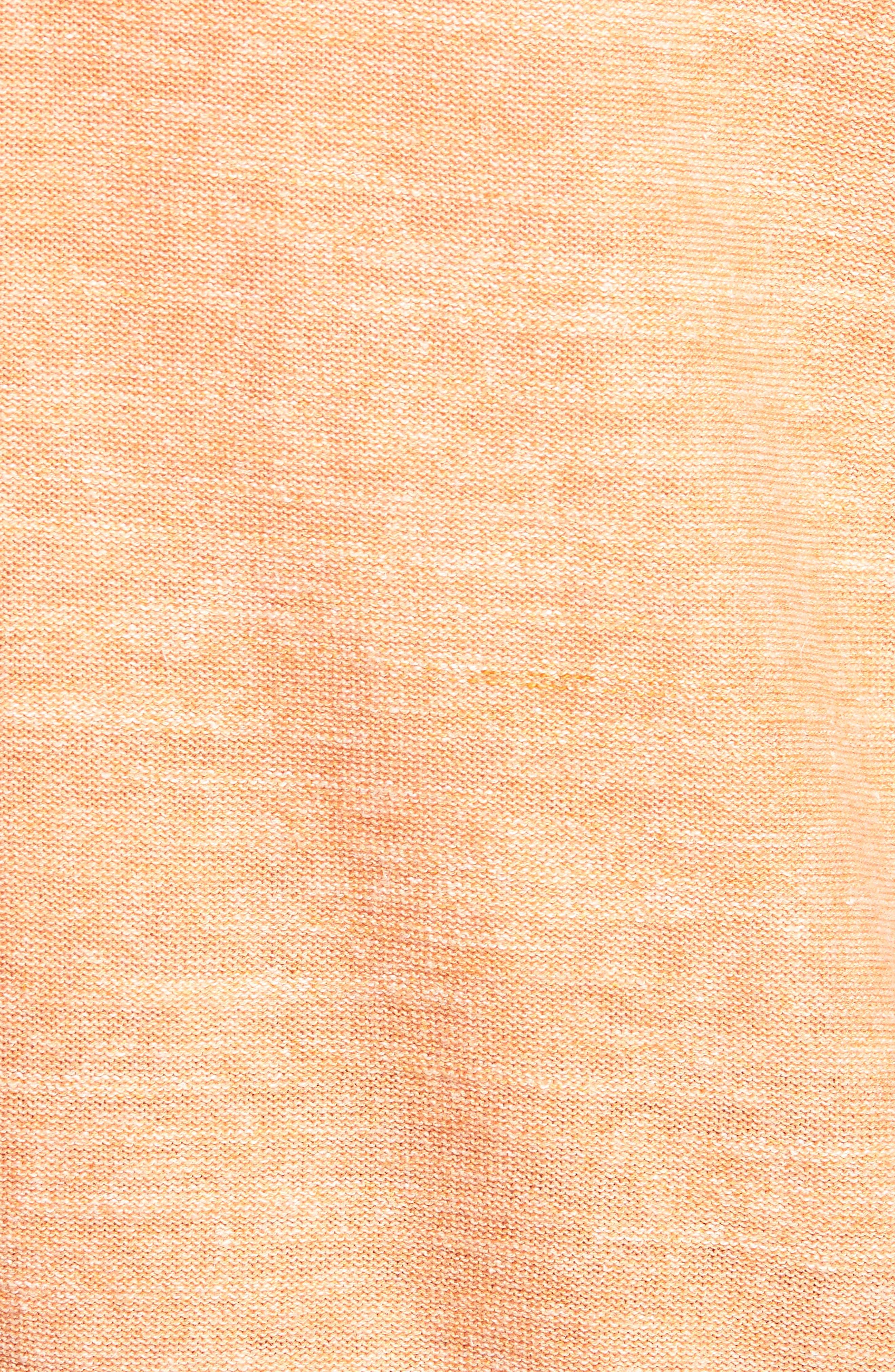 Sandy Bay Half-Zip Pullover,                             Alternate thumbnail 5, color,                             Curuba Heather