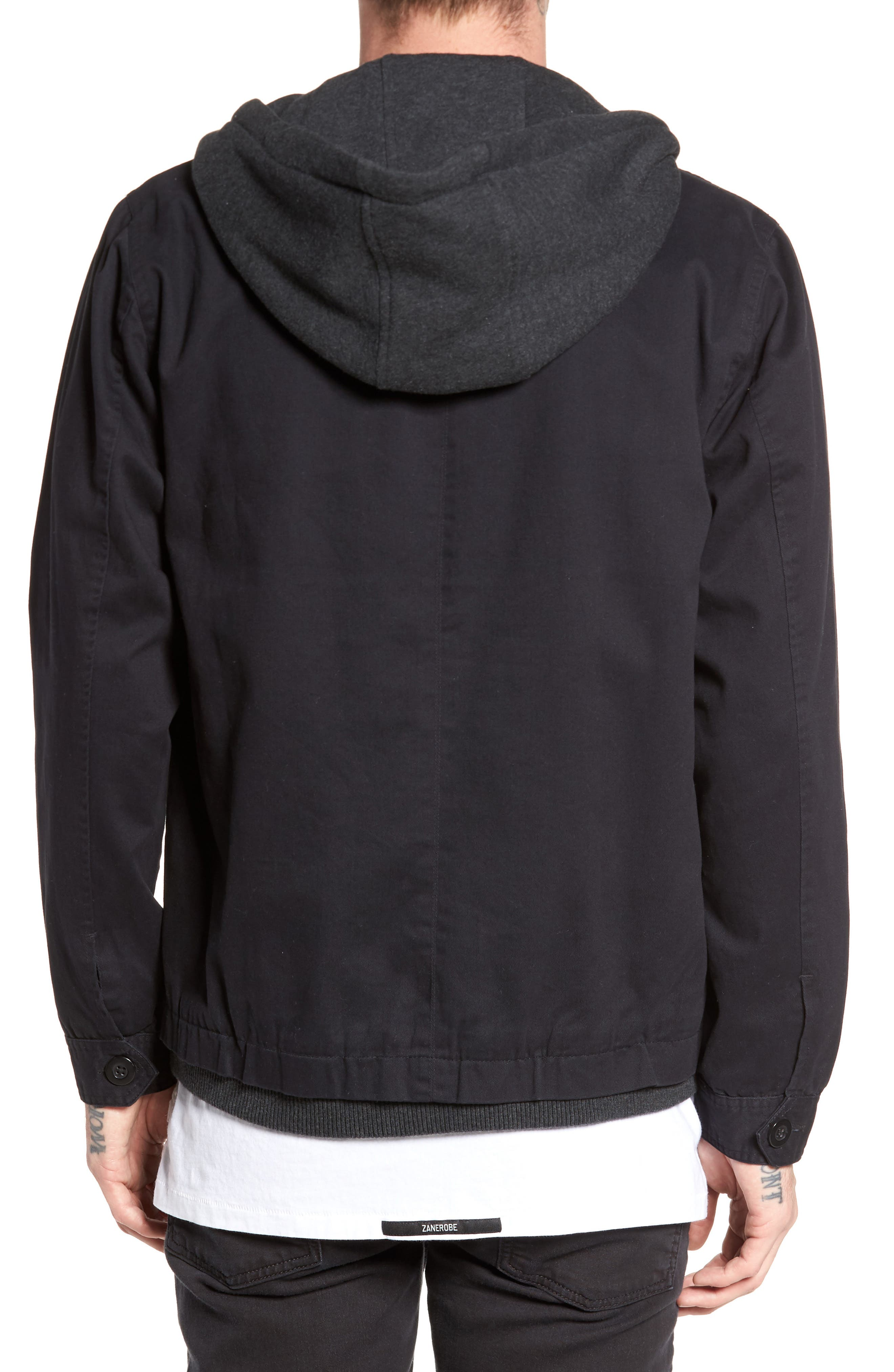 Droogs Field Jacket with Detachable Hood,                             Alternate thumbnail 2, color,                             Grey/ Heather Grey