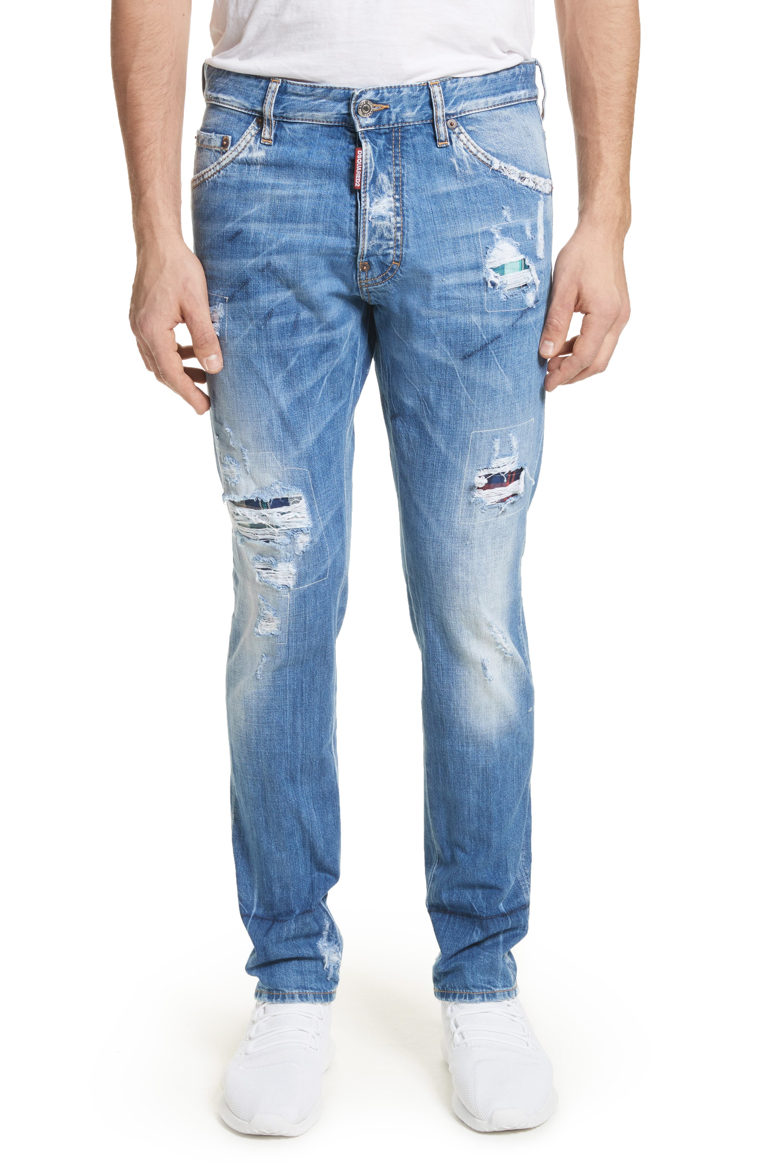 Cool Guy Skinny Fit Jeans,                             Main thumbnail 1, color,                             Navy/Blue