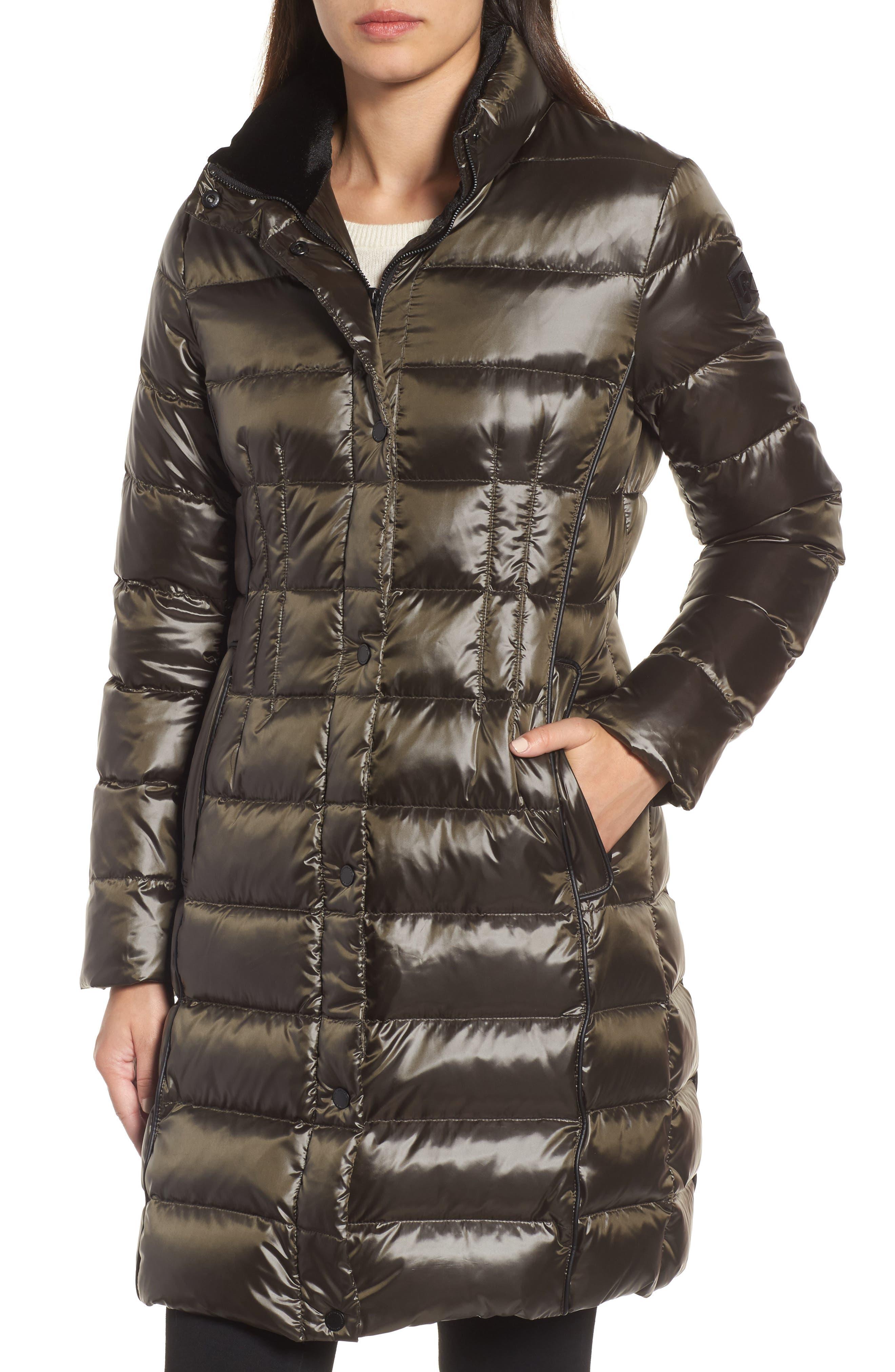 Alternate Image 2  - Donna Karan New York Down Puffer Coat with Faux Fur Trim