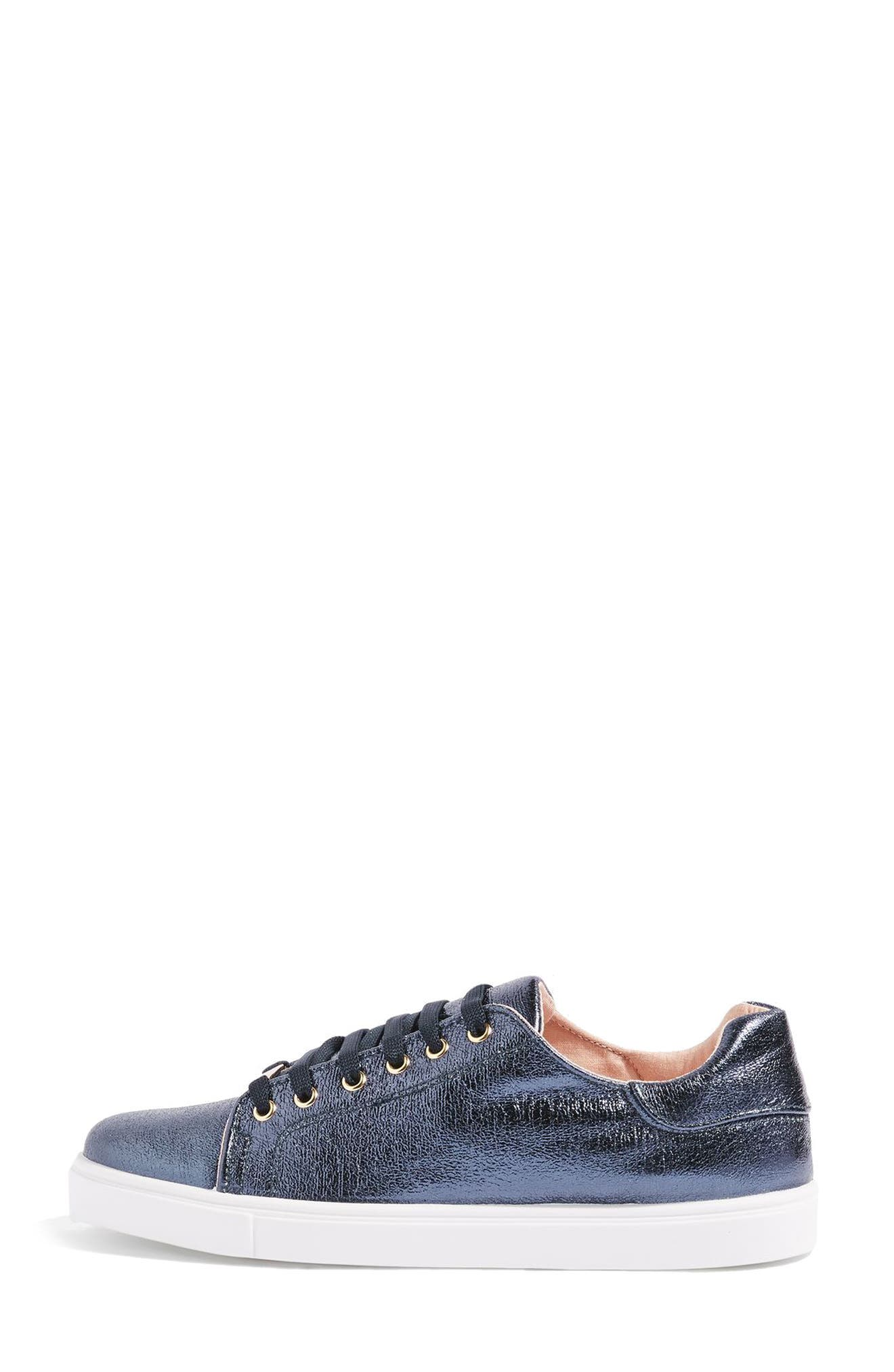 Alternate Image 2  - Topshop Cosmo Metallic Lace-Up Sneaker (Women)