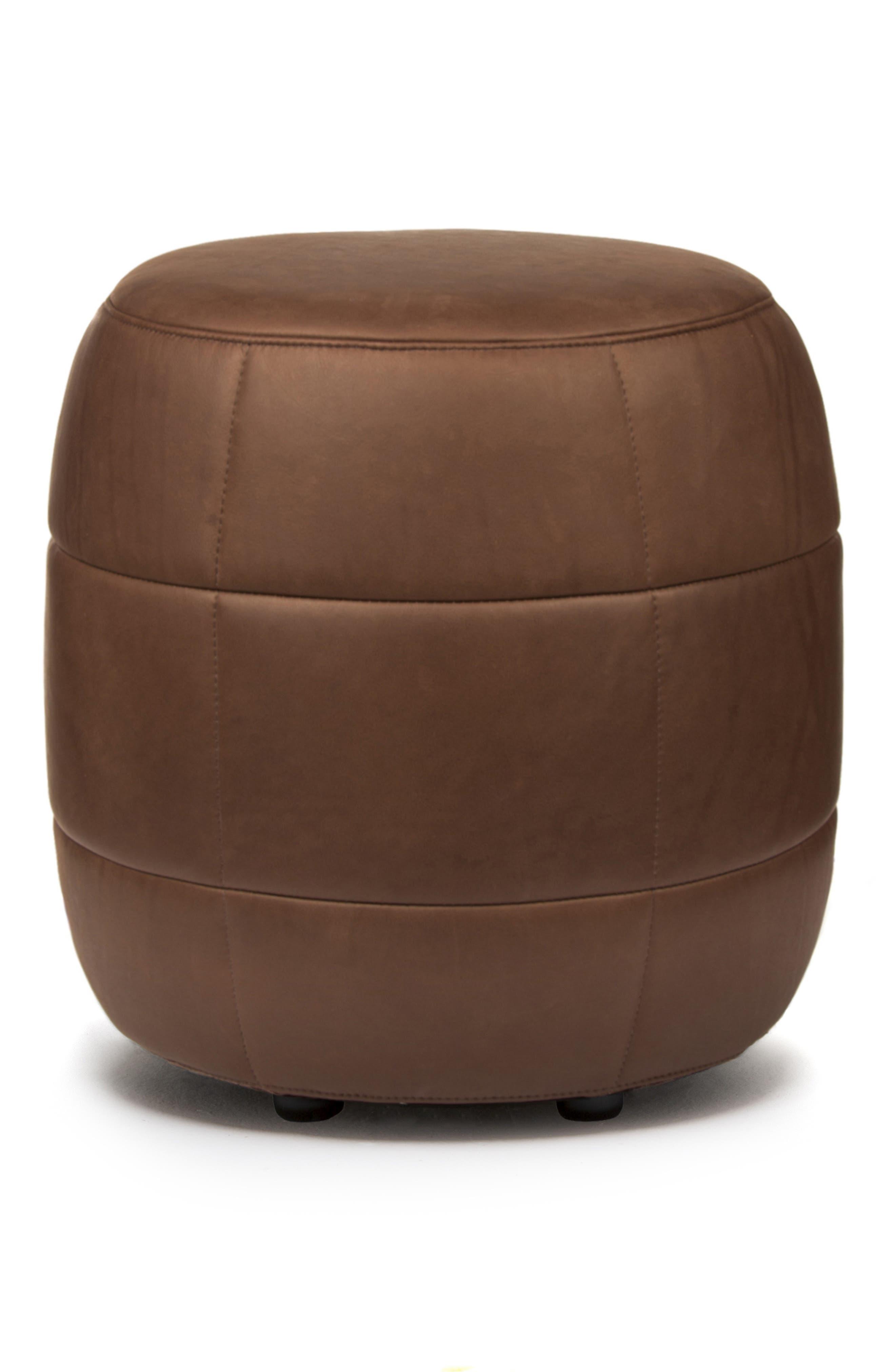 Main Image - Design on Stock USA Barrell Leather Stool