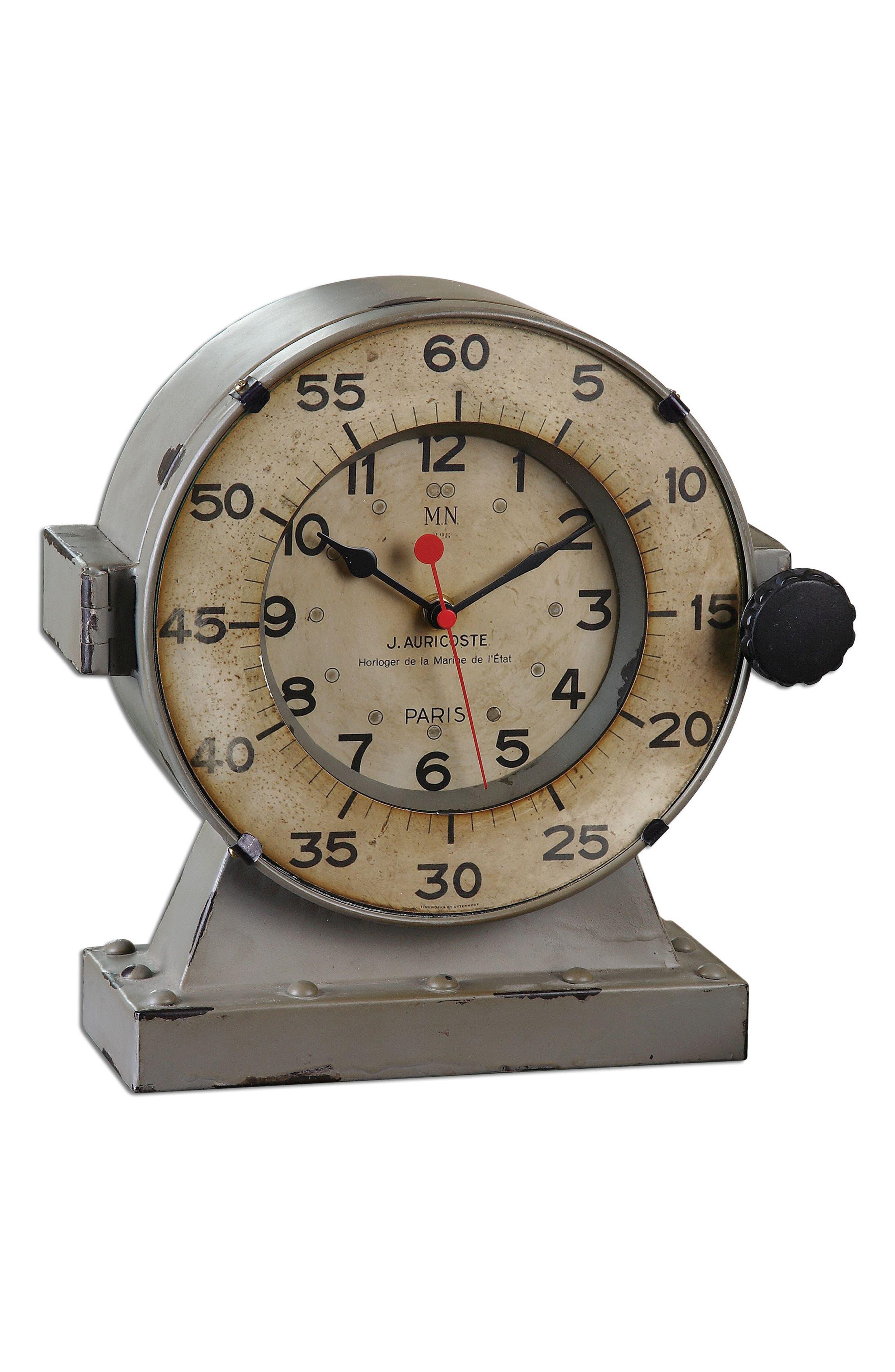Marine Clock,                         Main,                         color, Ivory