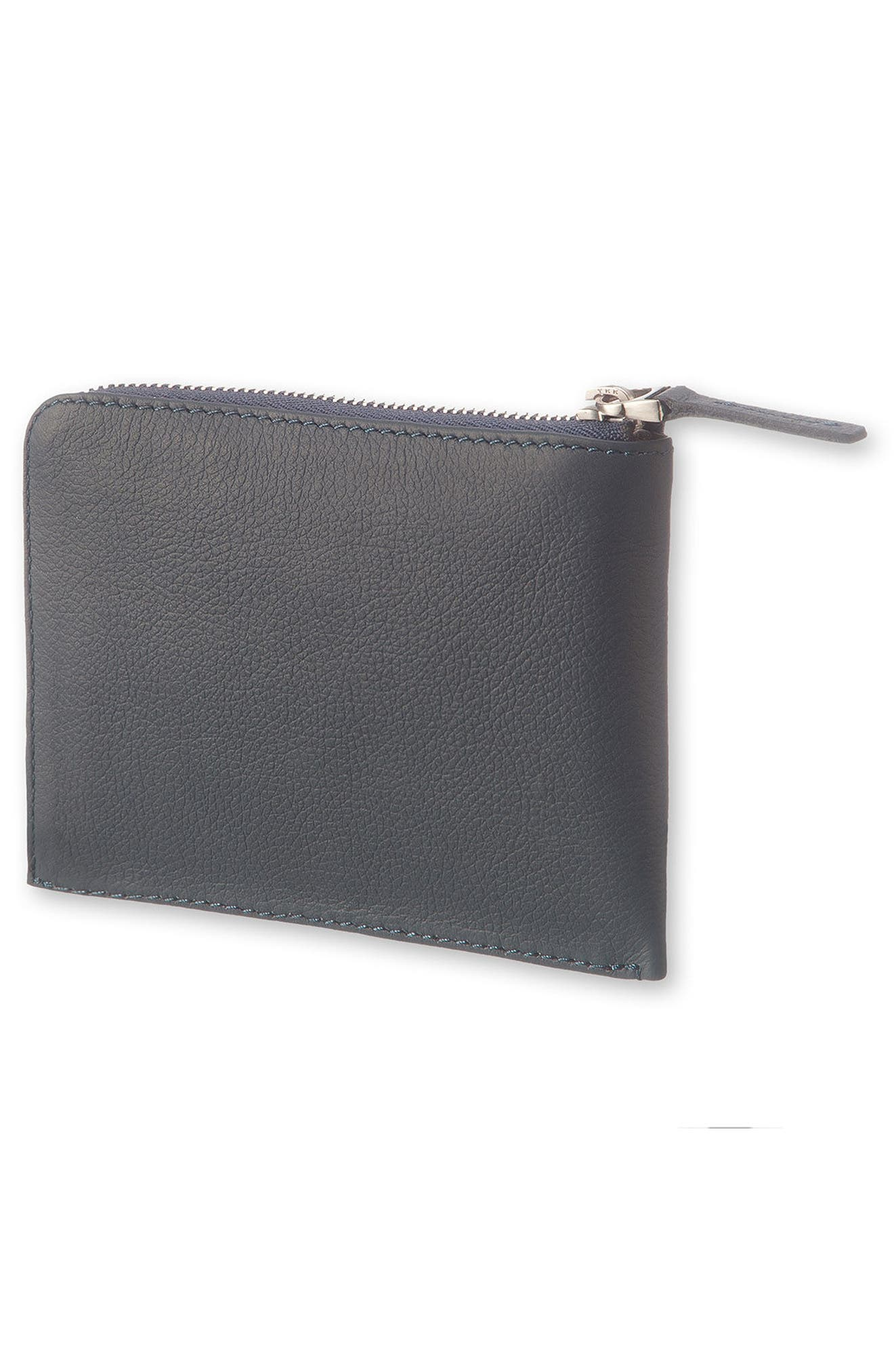 Alternate Image 4  - Moleskine Lineage Leather Zip Wallet