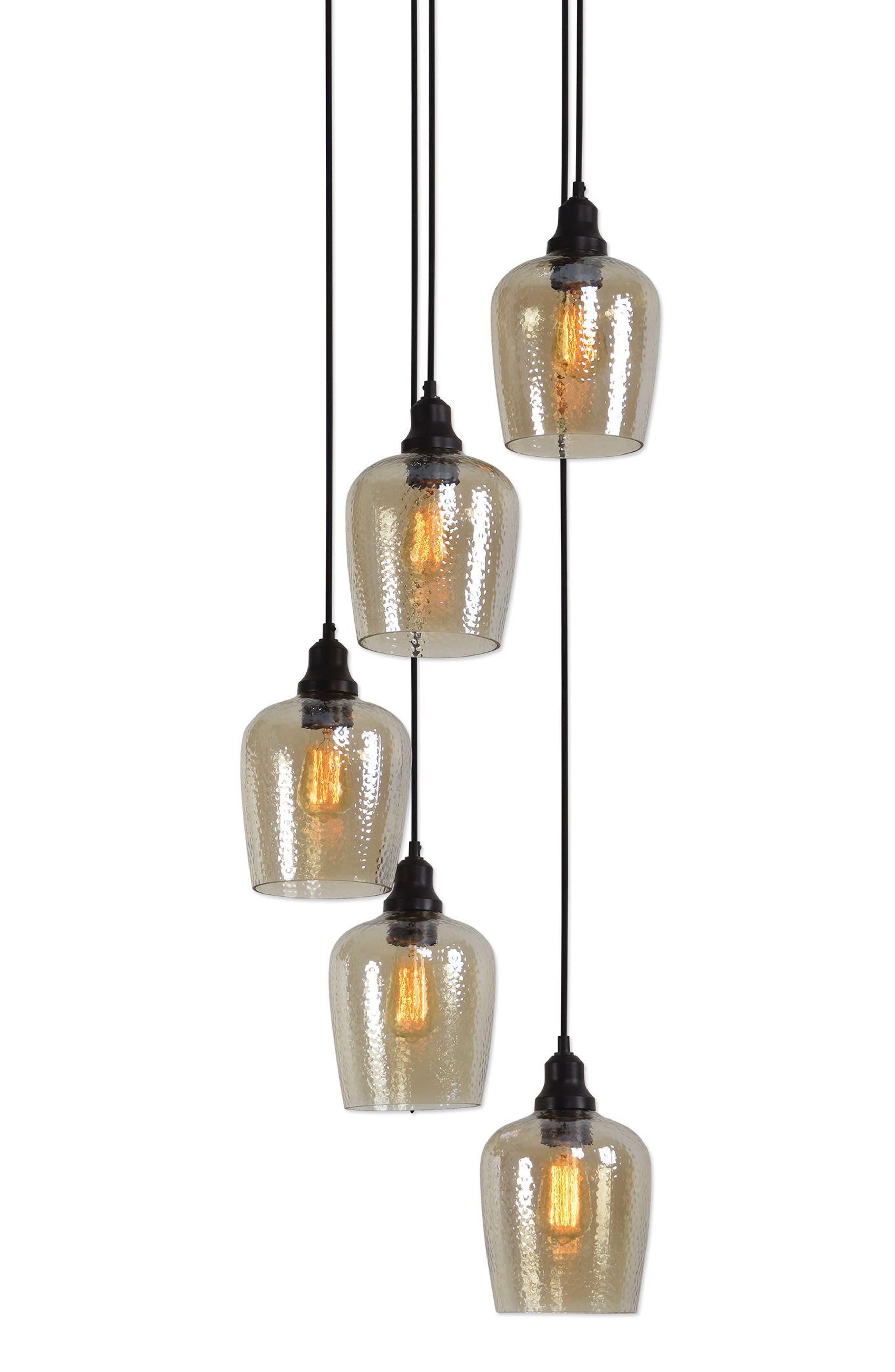 Aarush Pendant Lamp,                             Alternate thumbnail 5, color,                             Brown
