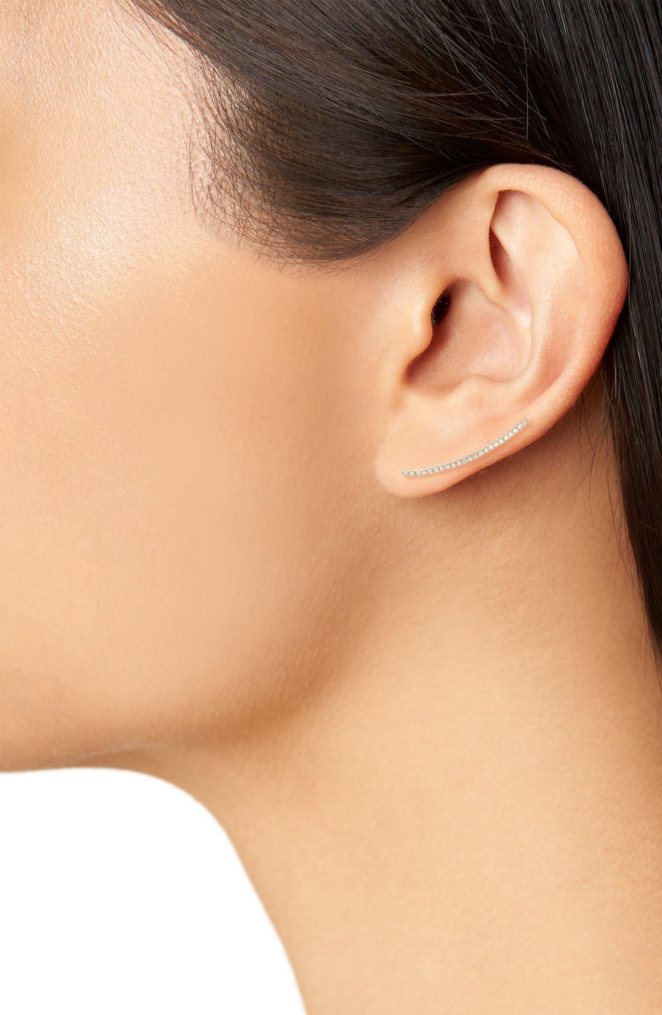 Alternate Image 2  - EF COLLECTION Diamond Ear Crawler