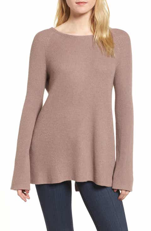 Trouvé Flare Sleeve Open Back Sweater