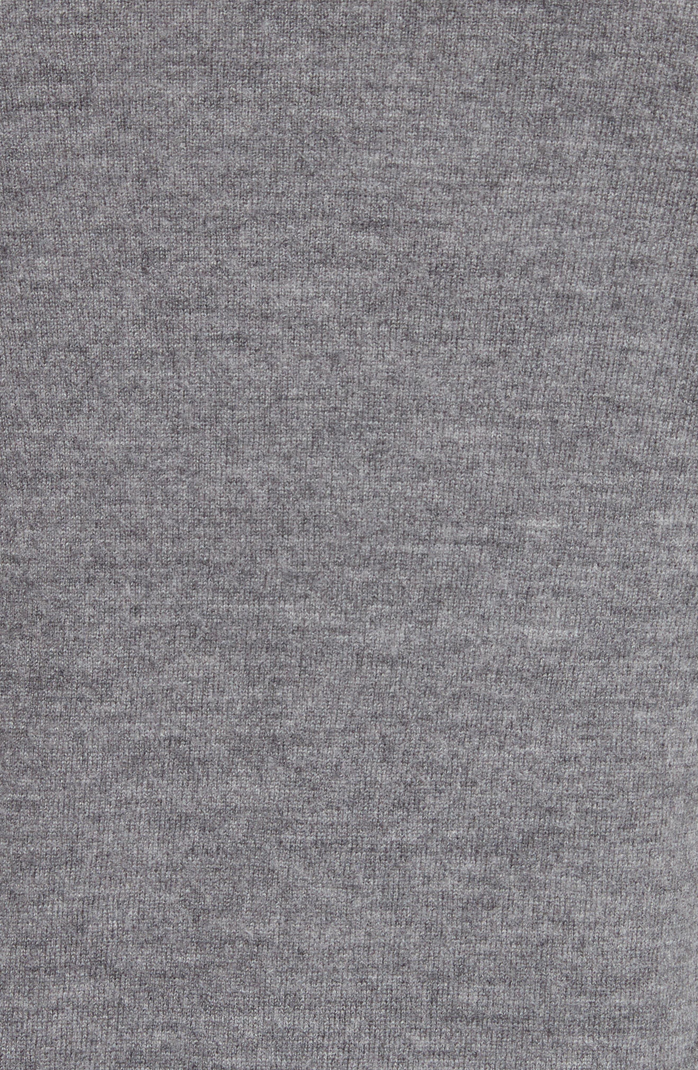 Nalon Wool Sweater,                             Alternate thumbnail 5, color,                             Grey Melange