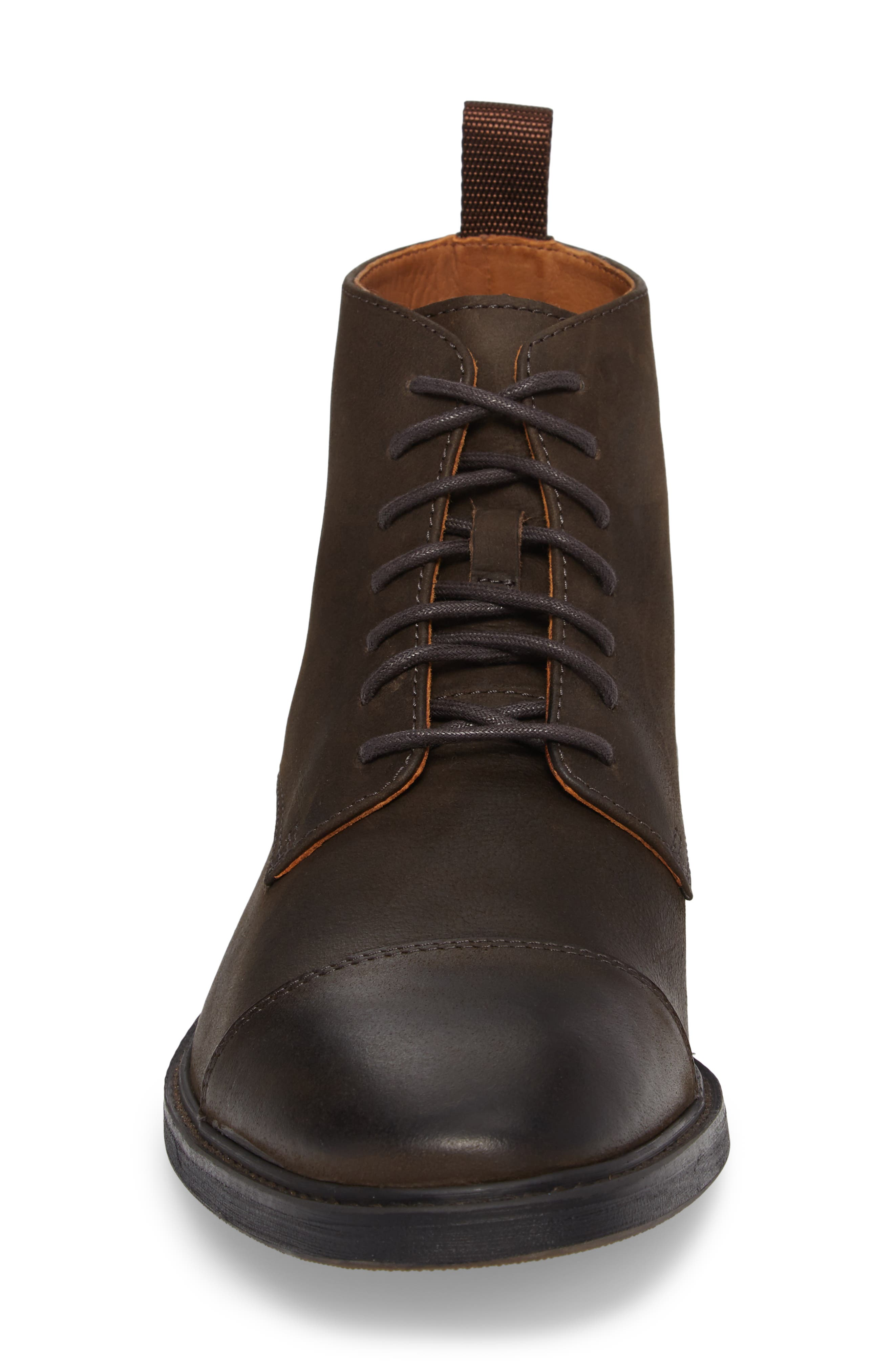Pateros Cap Toe Boot,                             Alternate thumbnail 4, color,                             Chocolate Leather