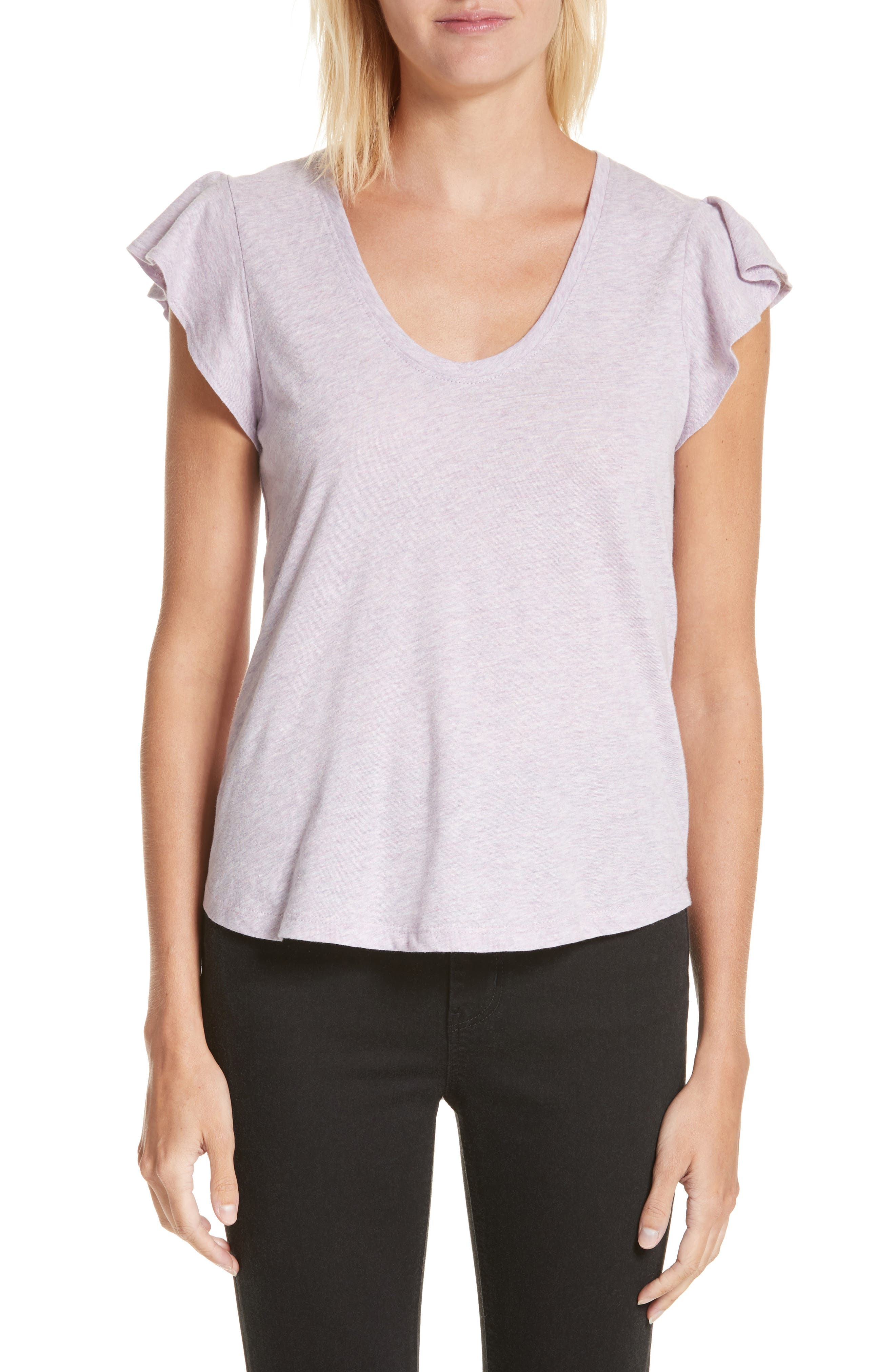 Washed Texture Jersey Tee,                         Main,                         color, Thistle Heather