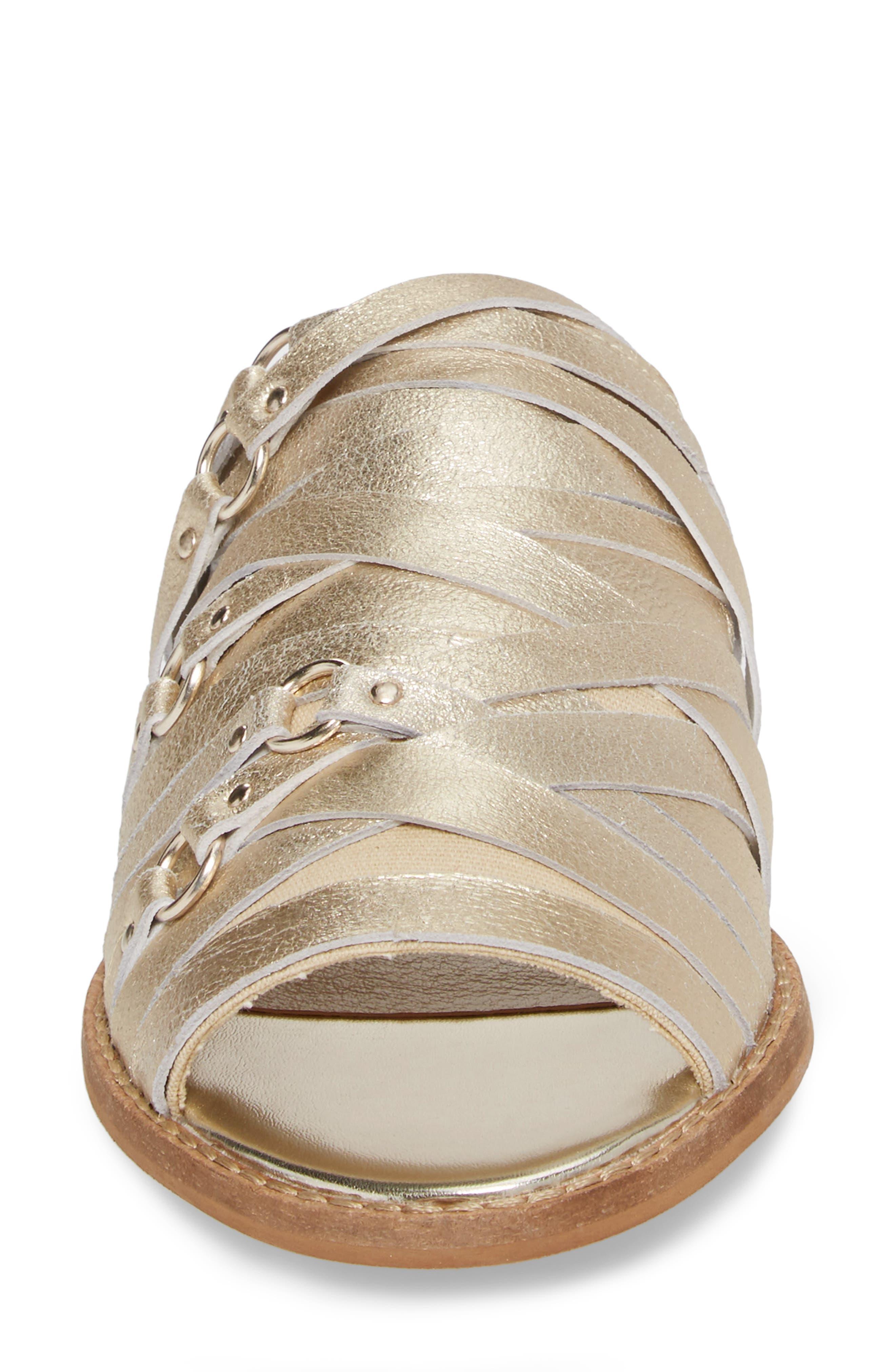 Slope Slide Sandal,                             Alternate thumbnail 4, color,                             Platinum