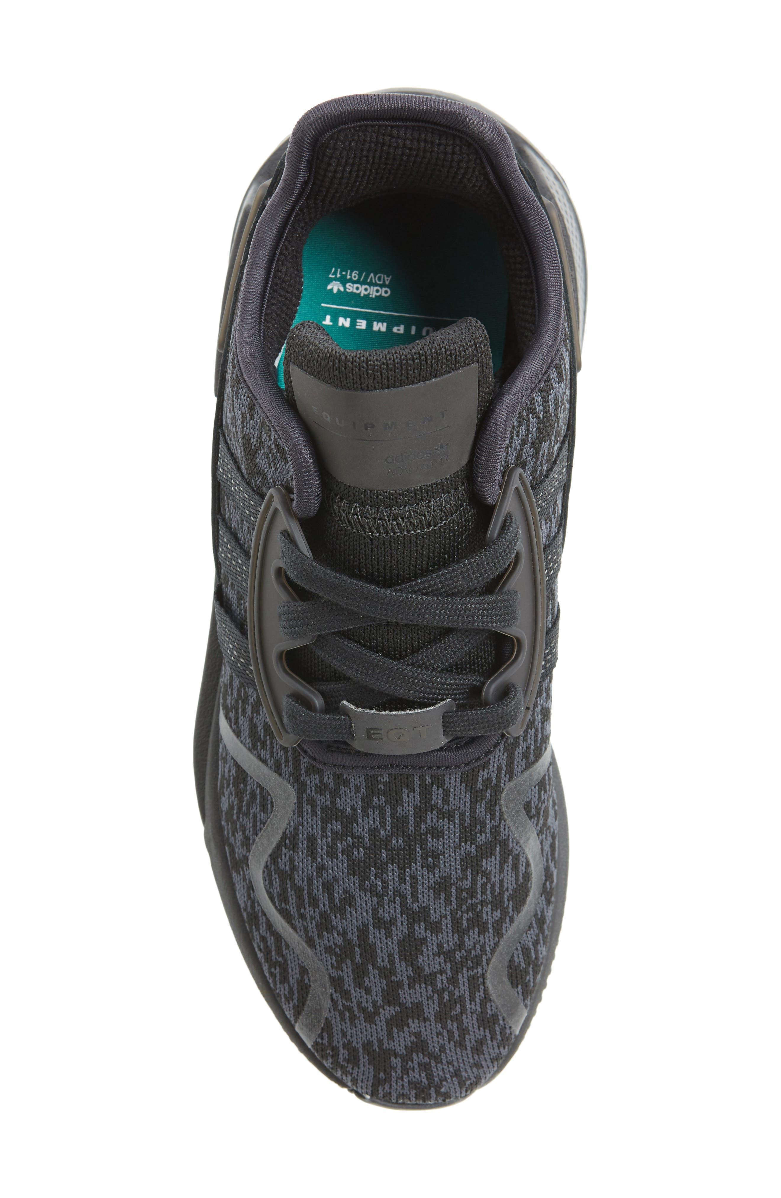 EQT Cushion ADV Sneaker,                             Alternate thumbnail 5, color,                             Core Black/ Core Black/ White