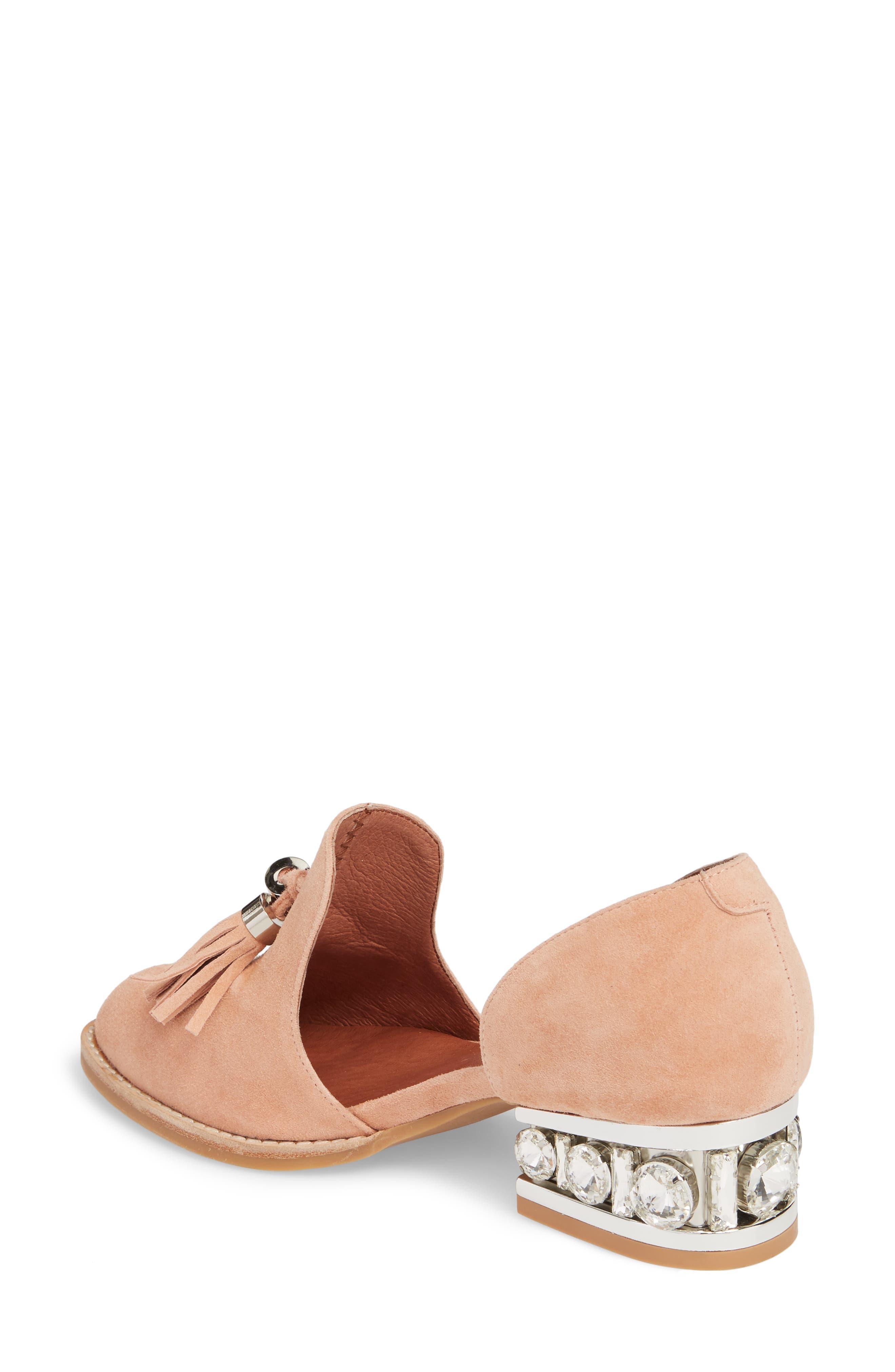 Civil Studded Loafer,                             Alternate thumbnail 2, color,                             Blush/ Silver Suede
