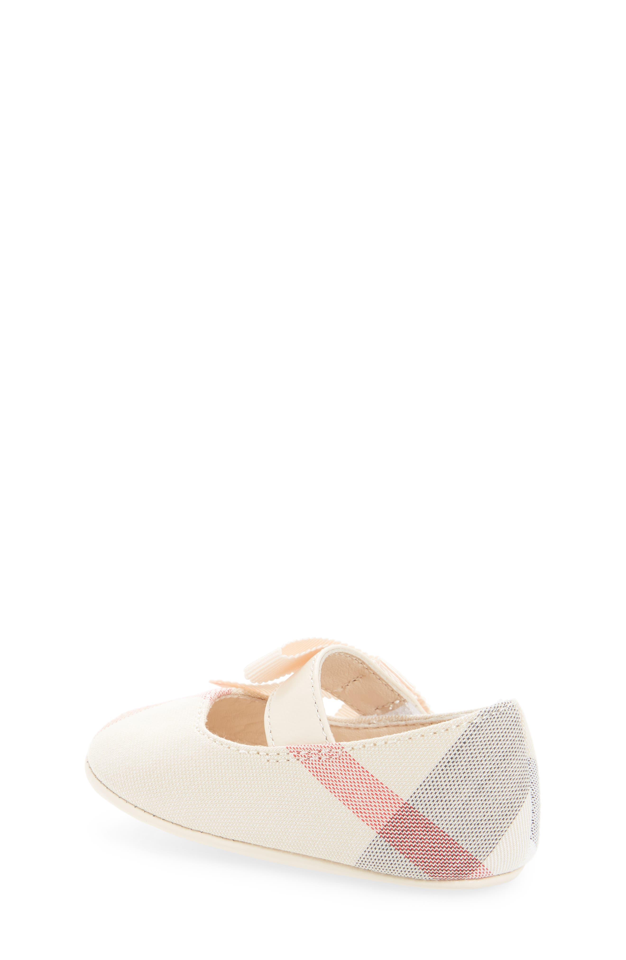Alternate Image 2  - Burberry Stark Mary Jane Crib Shoe (Baby)