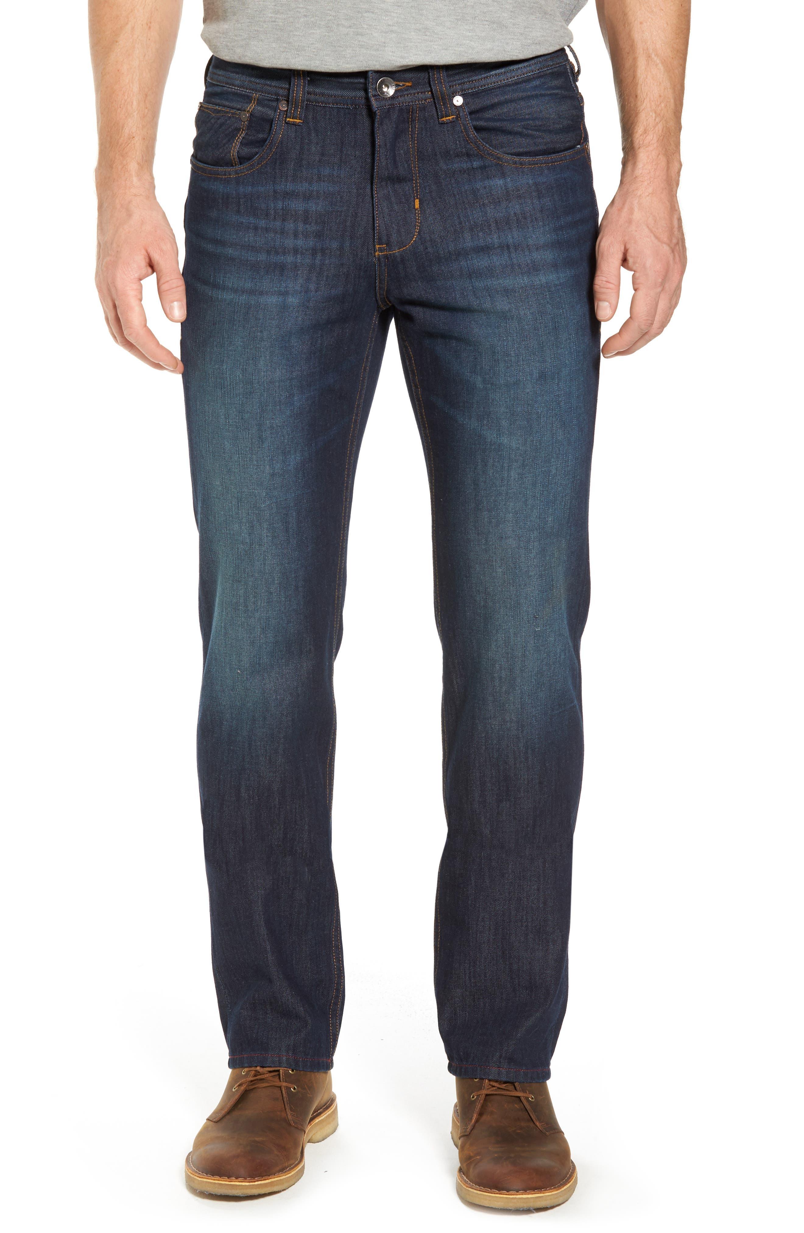 Barbados Straight Leg Jeans,                         Main,                         color, Dark Indigo Wash