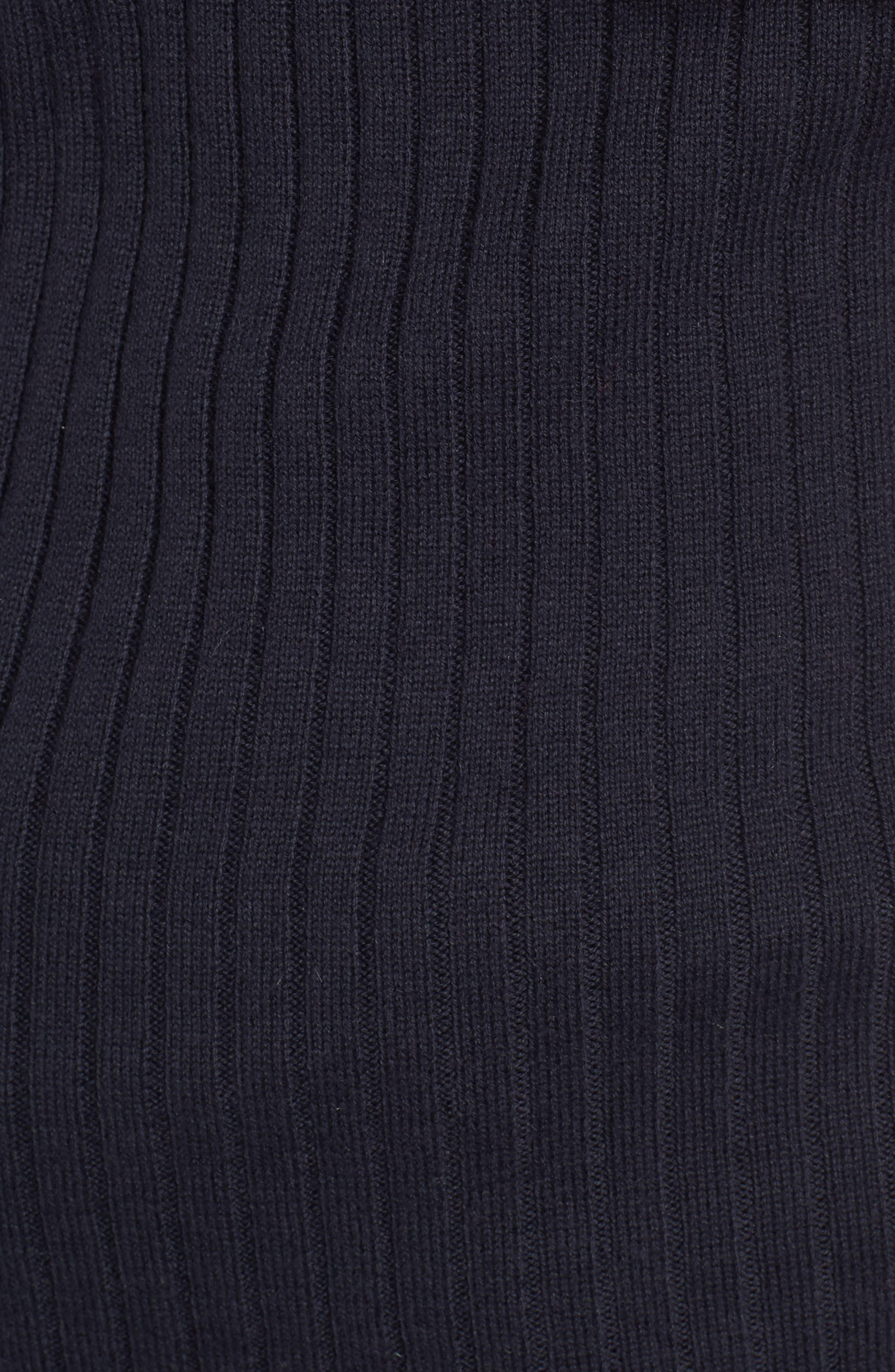 Ava One Shoulder Cotton & Cashmere Sweater,                             Alternate thumbnail 5, color,                             Navy