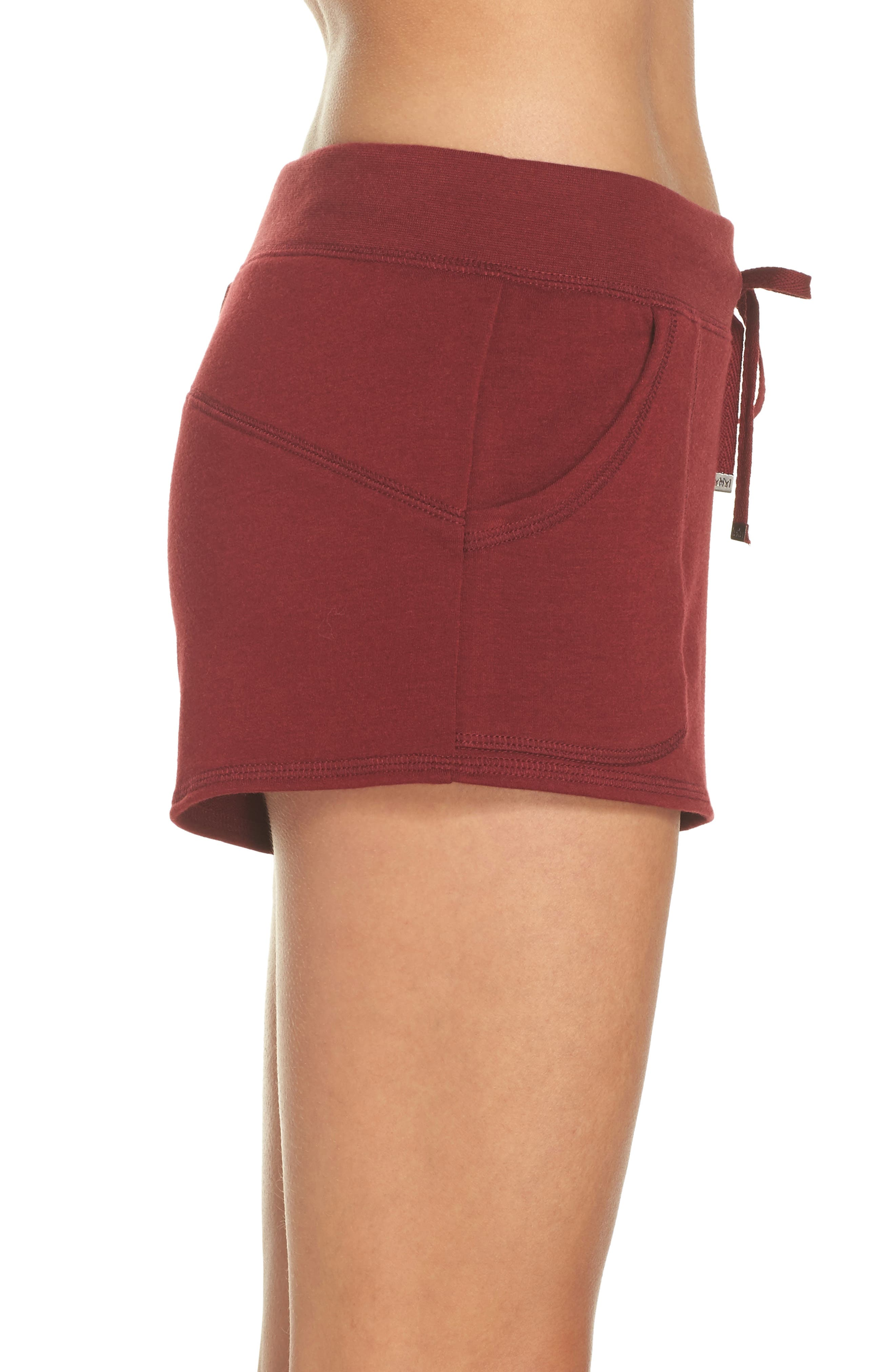 Down To The Details Lounge Shorts,                             Alternate thumbnail 3, color,                             Red Grape