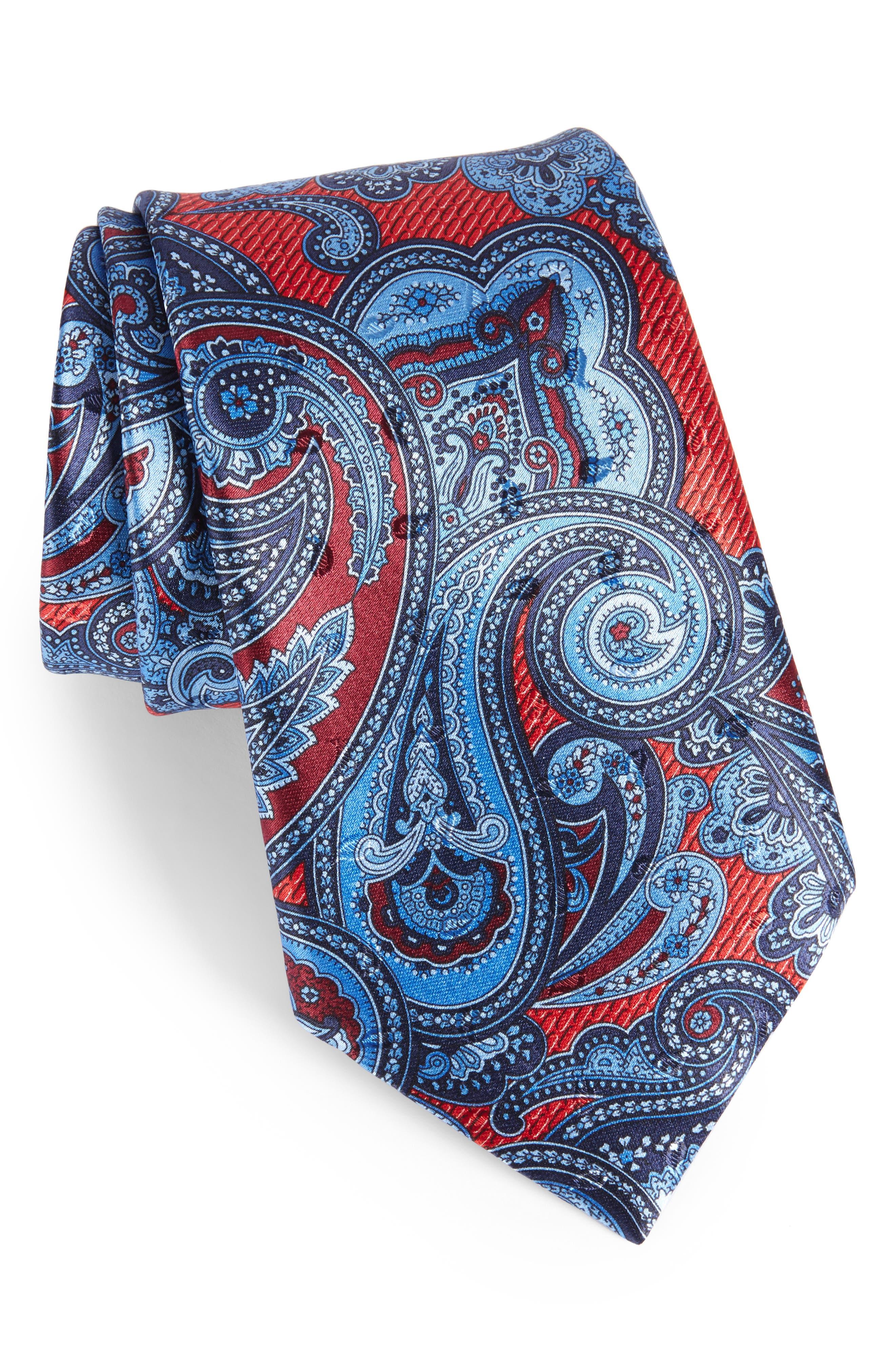 Main Image - Ermenegildo Zegna Paisley Silk Tie