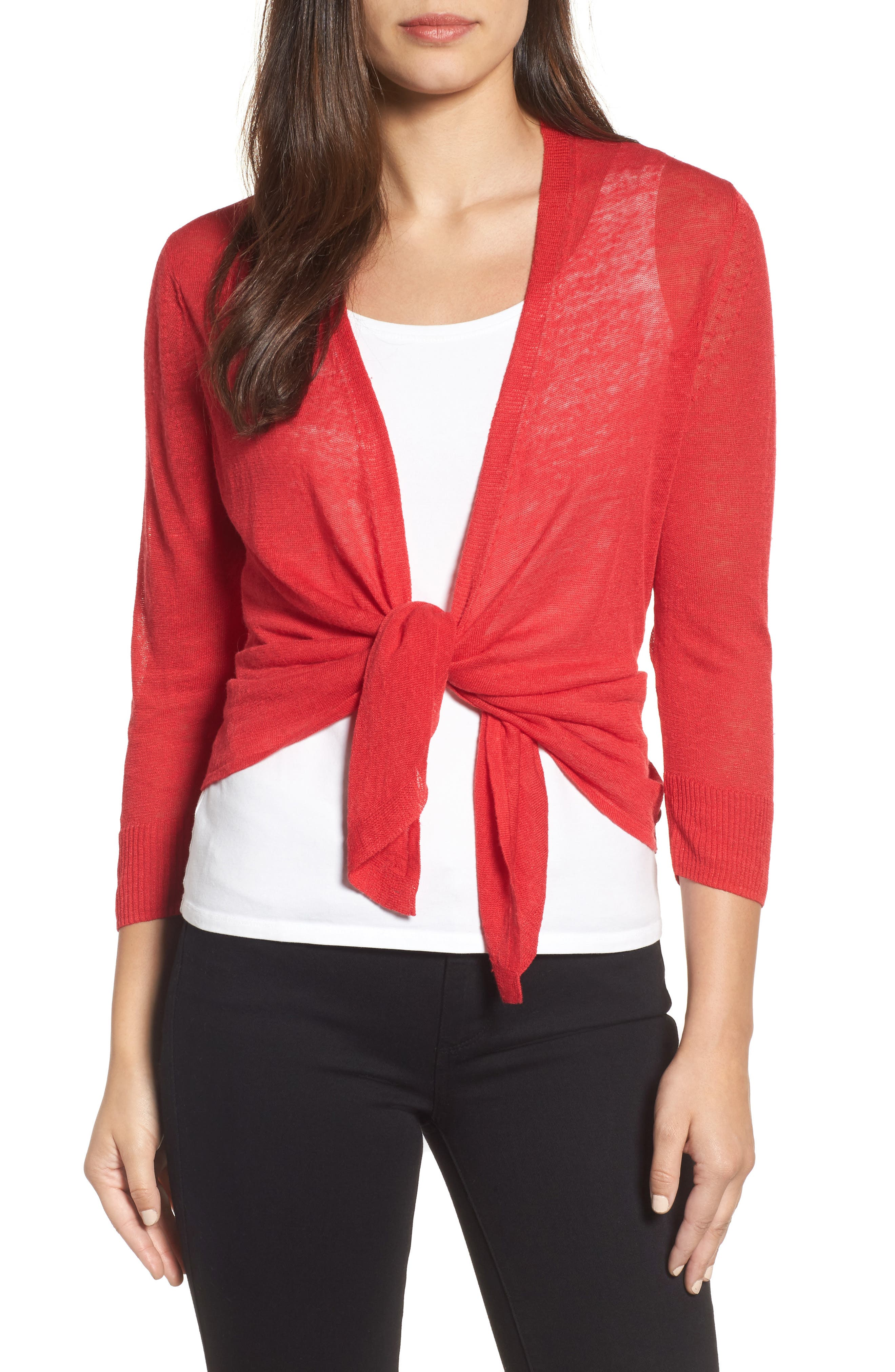 4-Way Cardigan,                             Alternate thumbnail 5, color,                             True Red