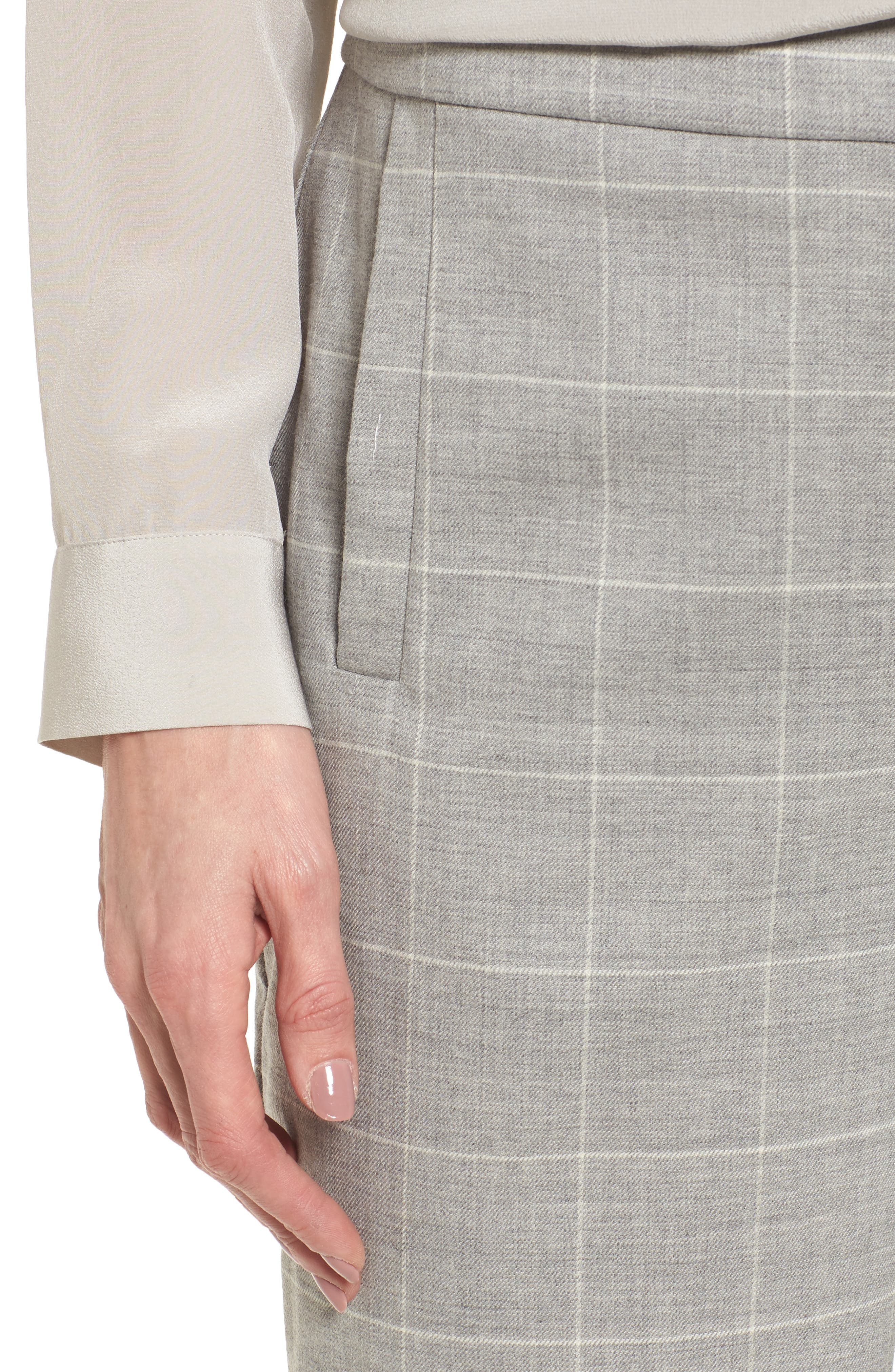 Alternate Image 4  - Eileen Fisher Tapered Stretch Wool Ankle Pants