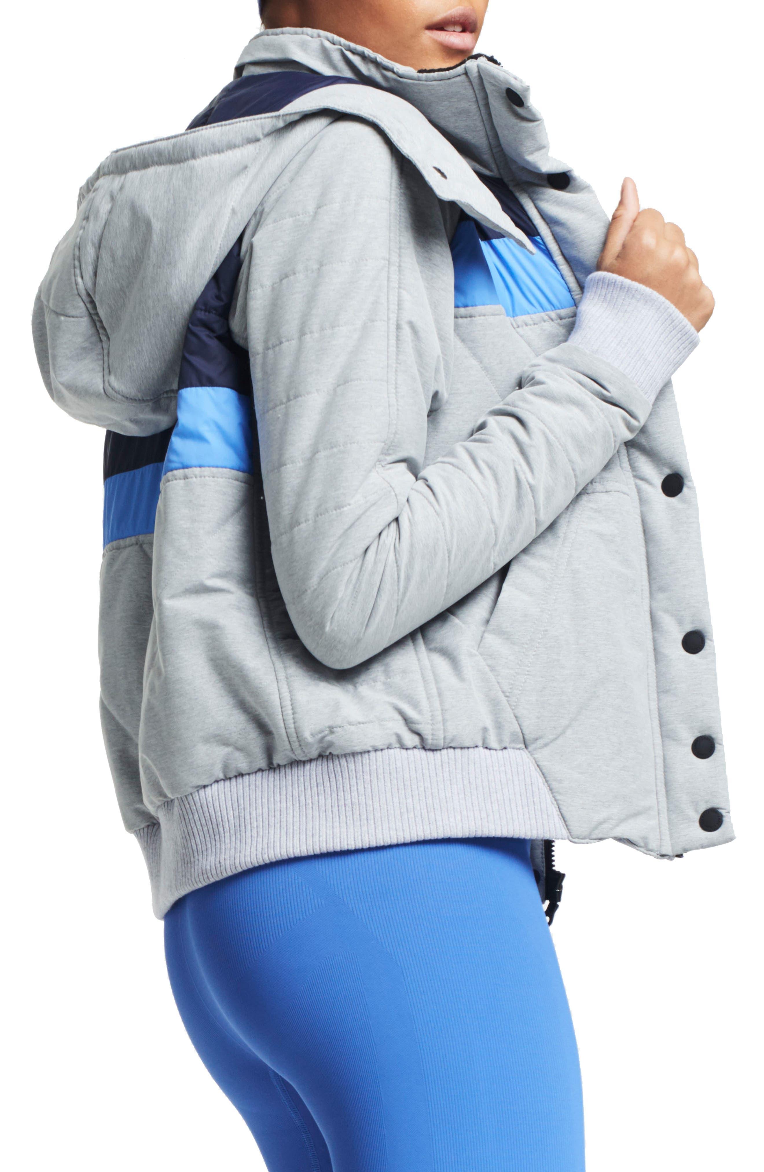 Winterbreaker Puffer Jacket,                             Alternate thumbnail 3, color,                             Grey Marl