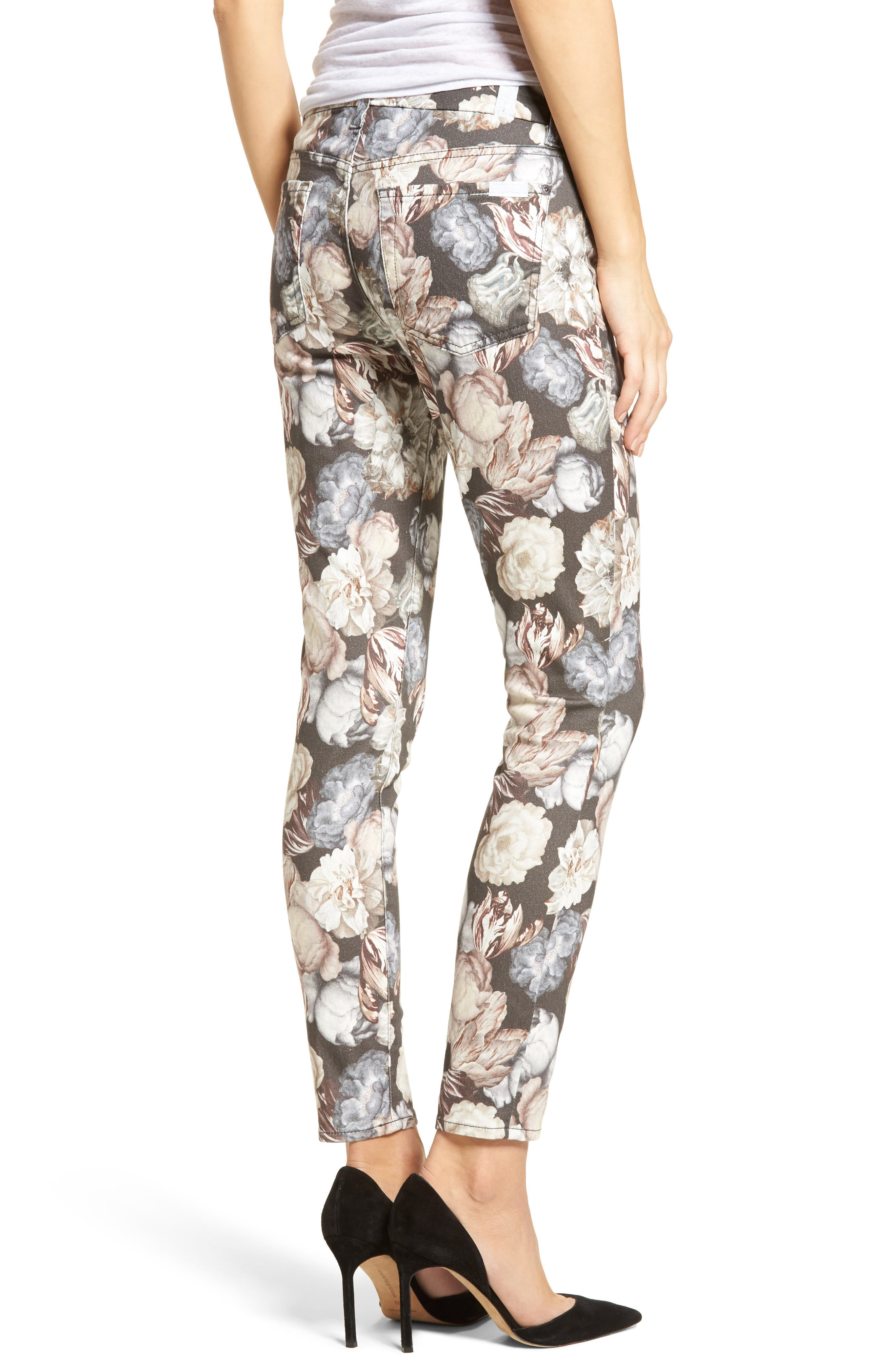 Alternate Image 2  - 7 For All Mankind® The Ankle Skinny Jeans (Amsterdam Floral)