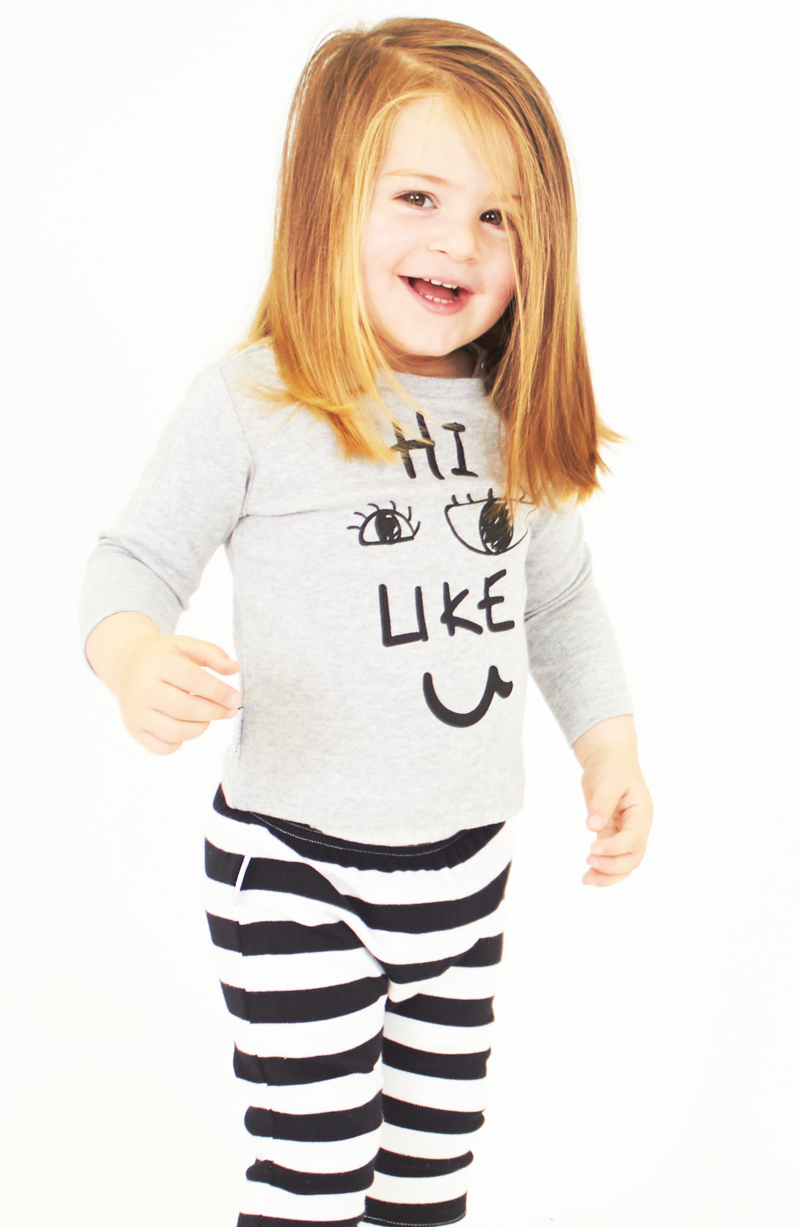 Alternate Image 3  - Tiny Tribe Hi, I Like You Tee & Leggings Set (Baby & Toddler)