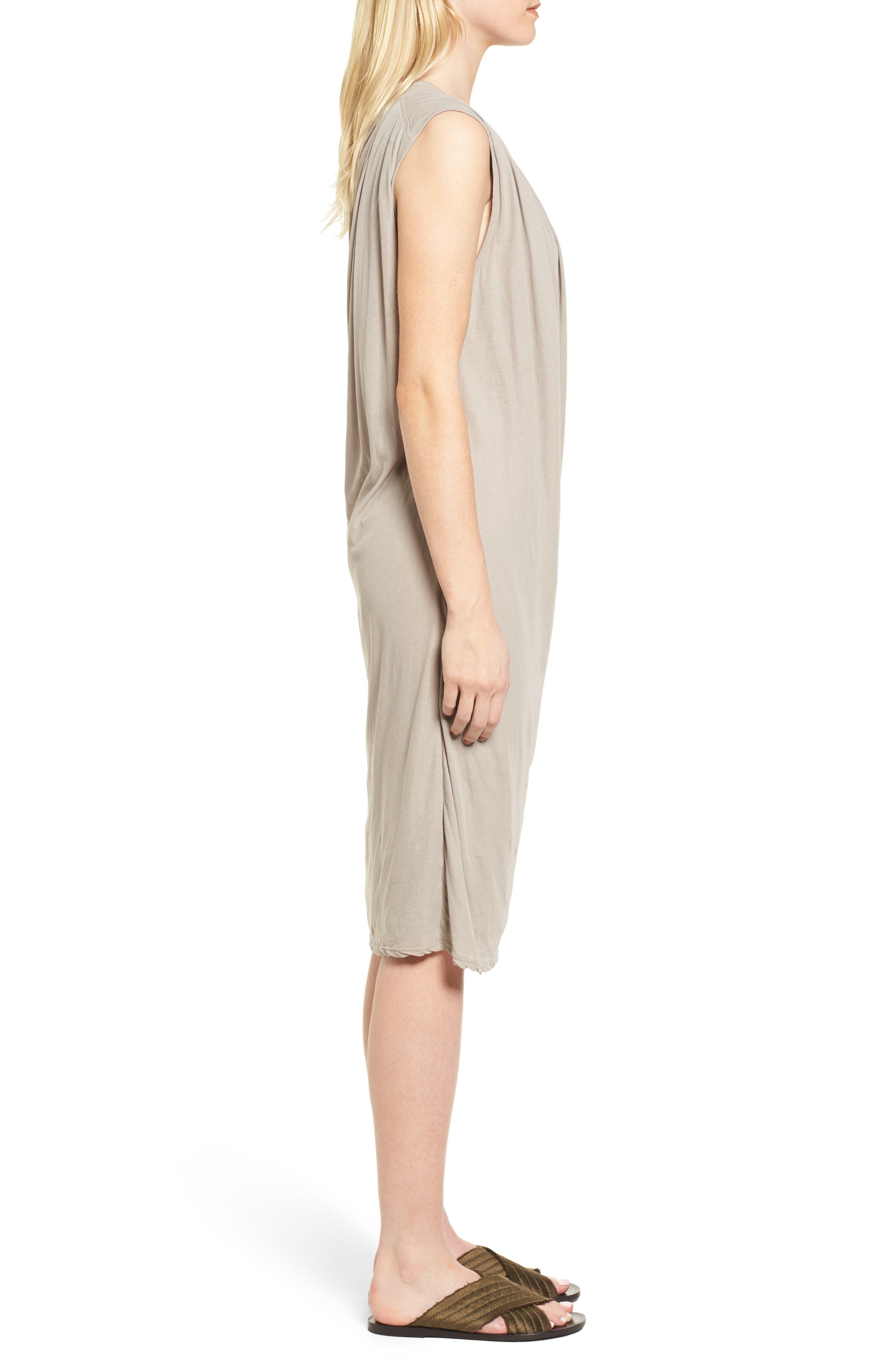 Alternate Image 3  - James Perse Draped Midi Dress