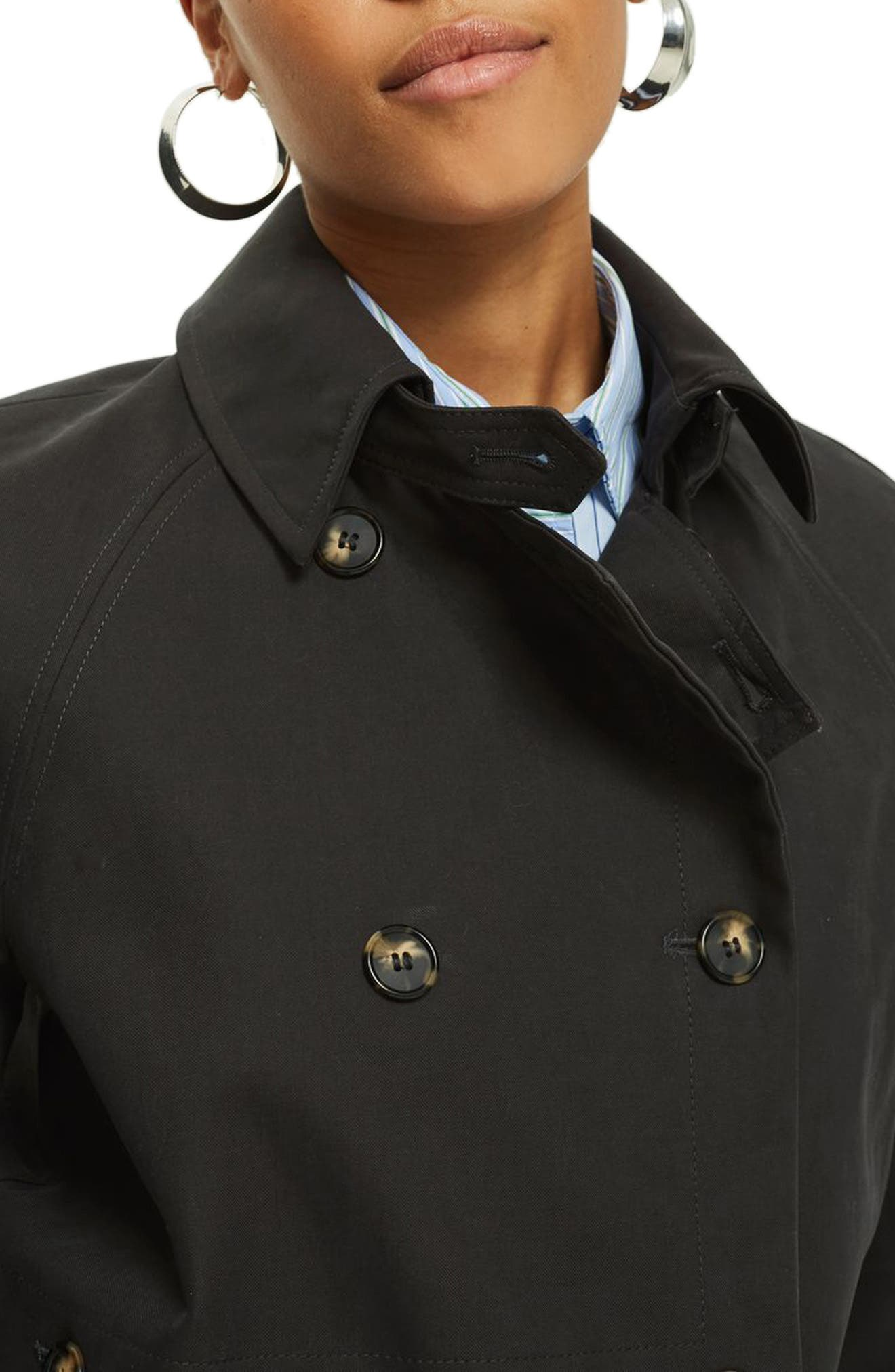 Alternate Image 4  - Topshop Cotton Trench Coat