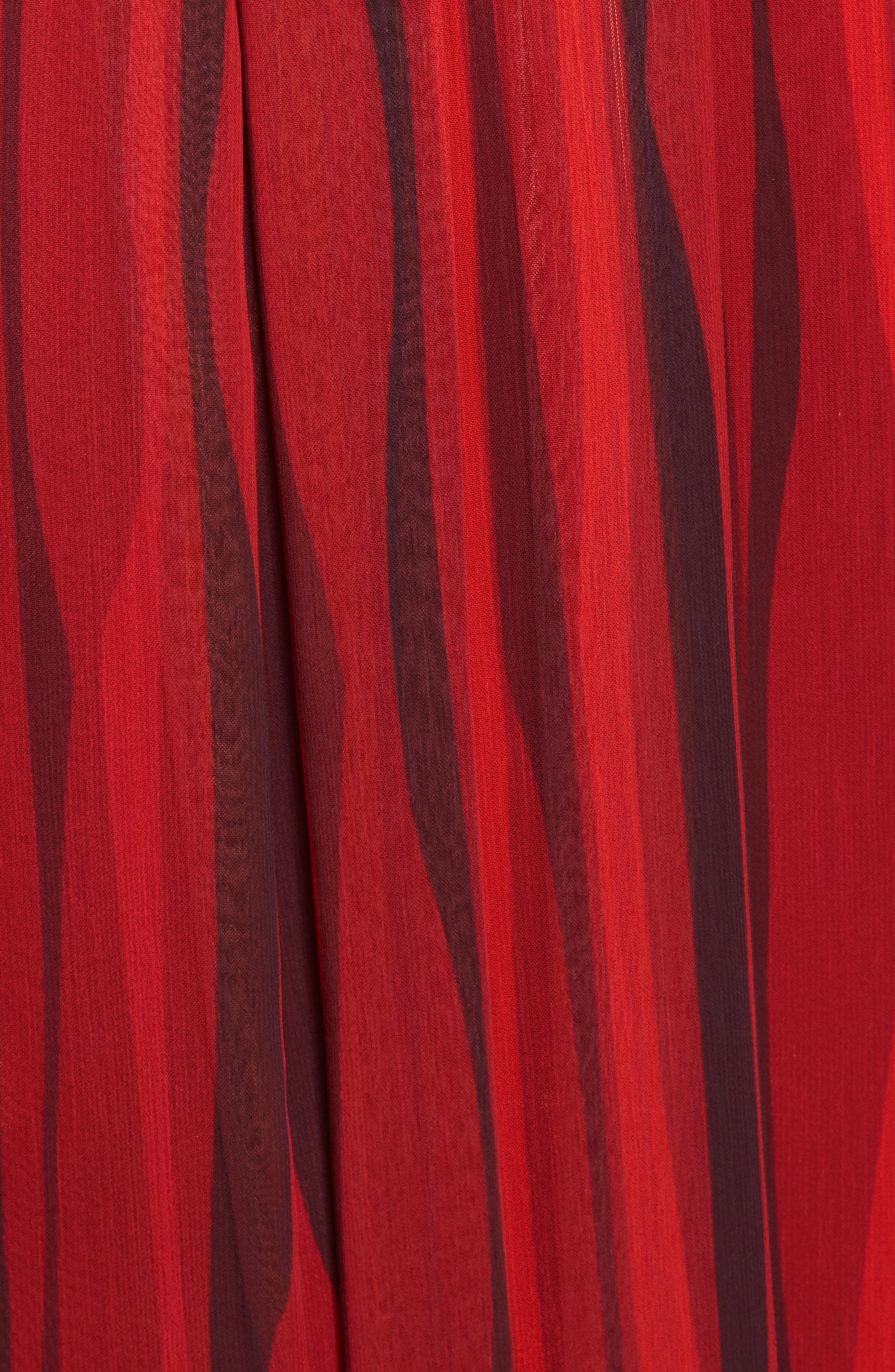 Fit & Flare Dress,                             Alternate thumbnail 5, color,                             Titian Red/ Black Combo