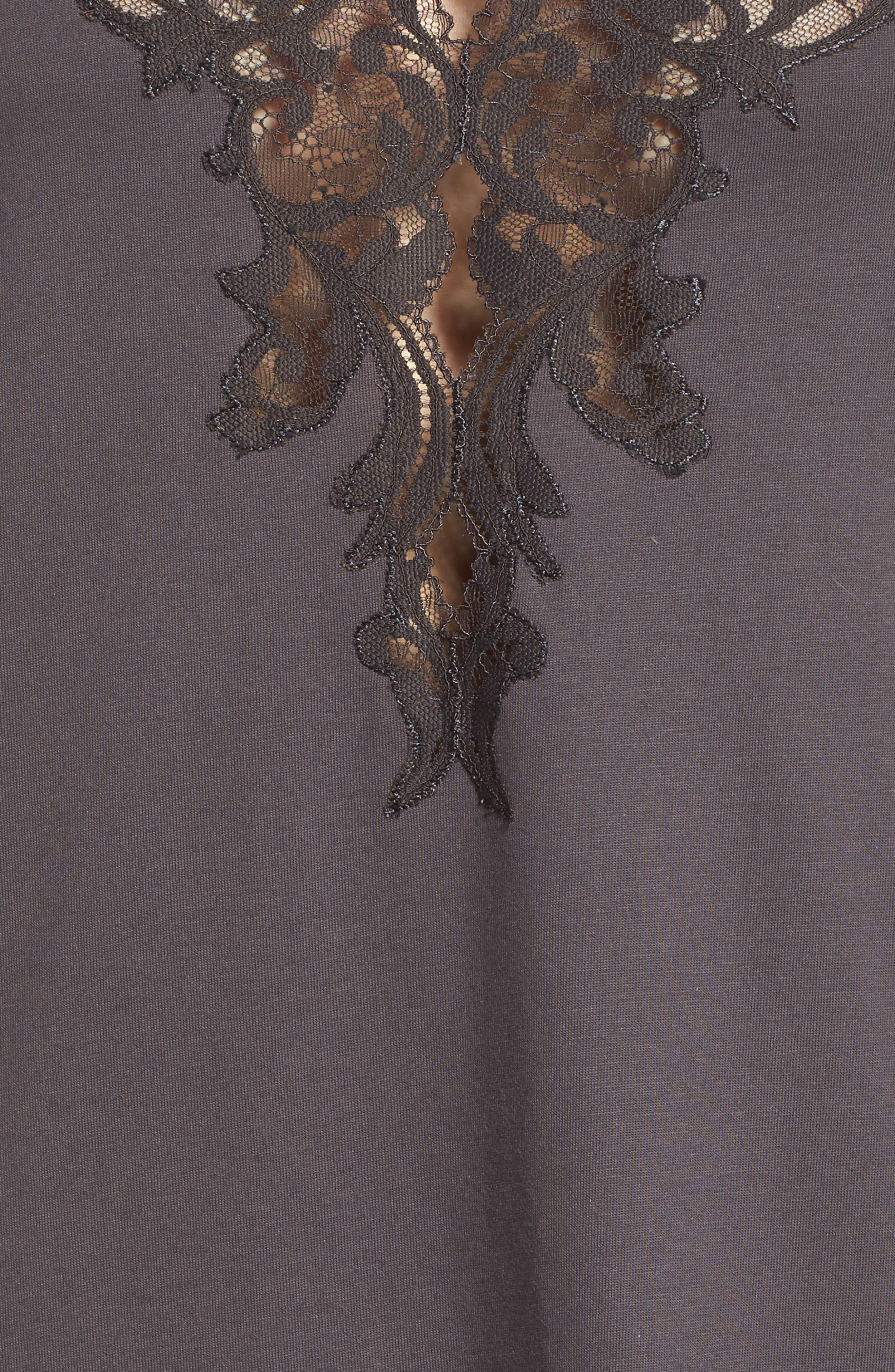Bliss Supima<sup>®</sup> Cotton Nightgown,                             Alternate thumbnail 5, color,                             Graphite