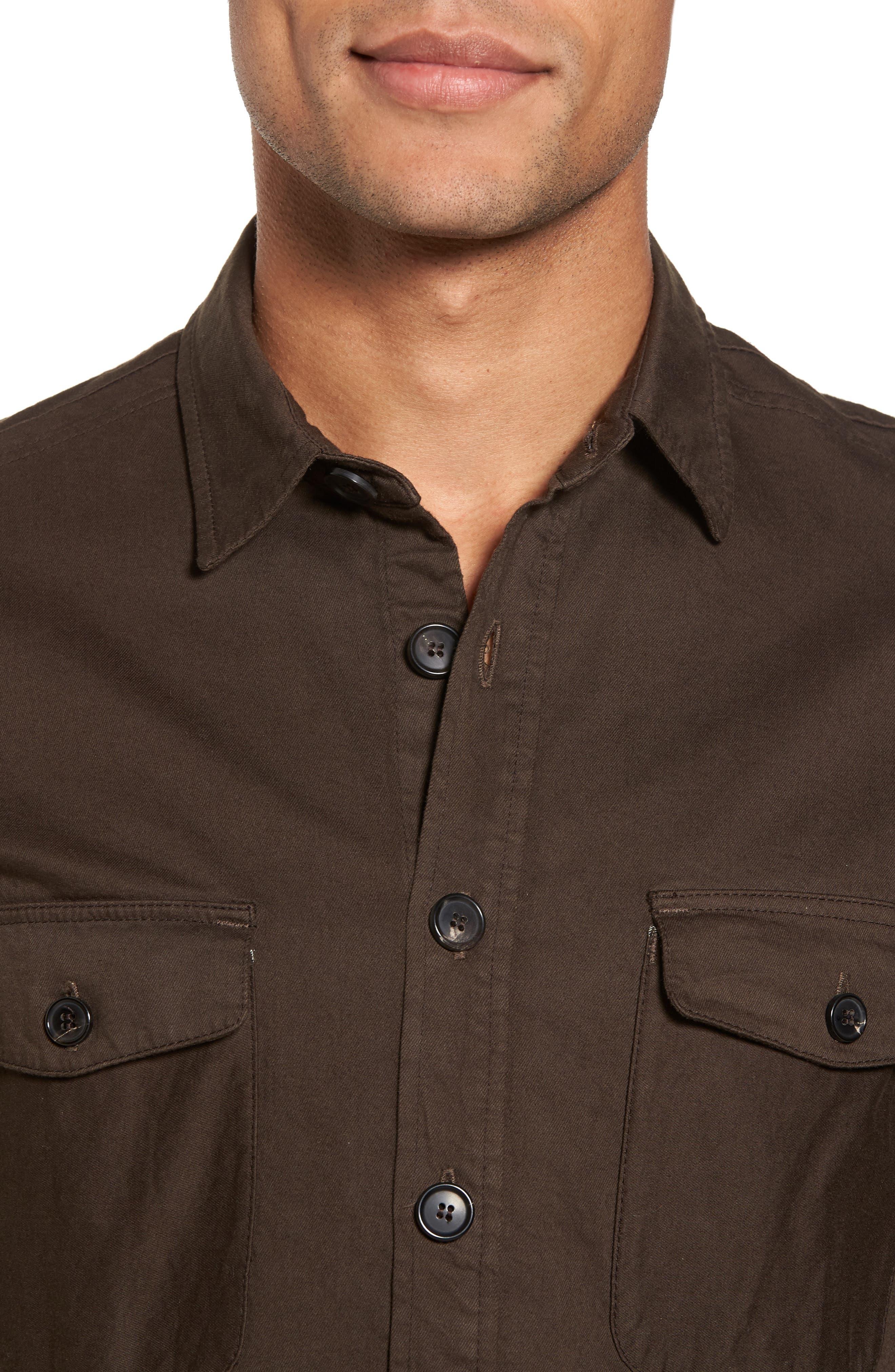 Alternate Image 4  - Billy Reid Selvedge Denim Sport Shirt